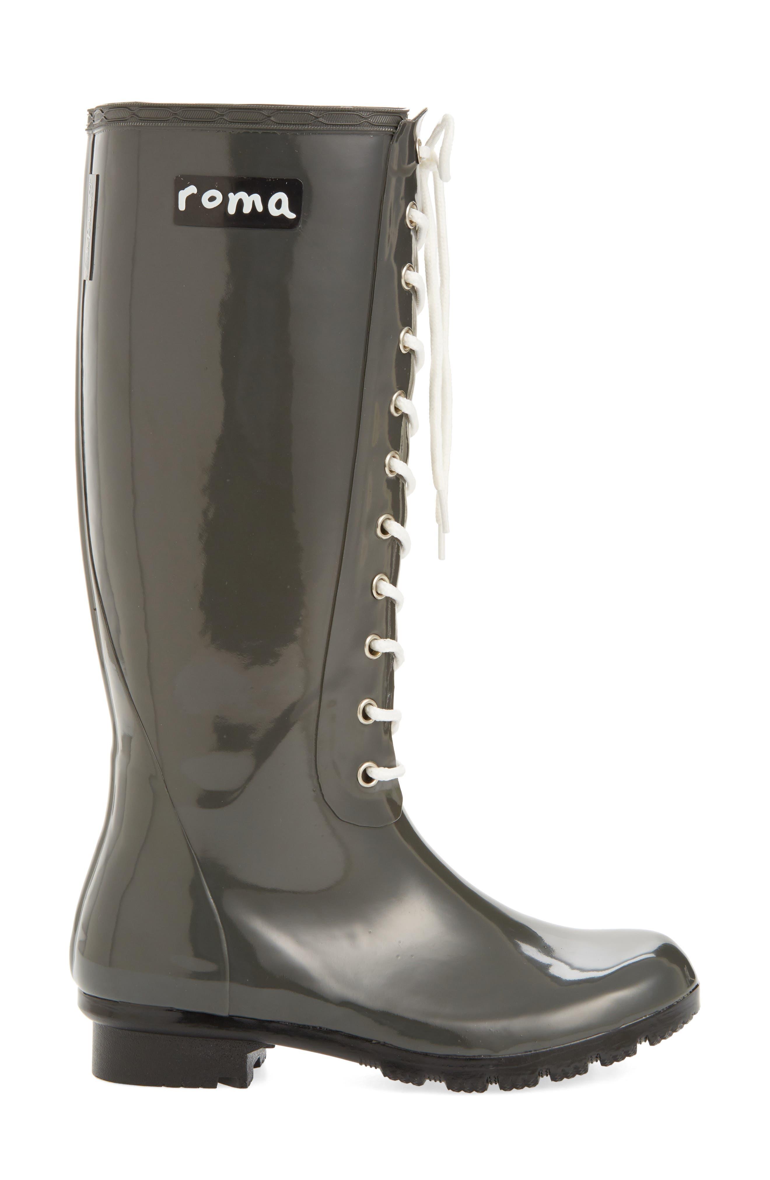 'Opinca' Waterproof Rain Boot,                             Alternate thumbnail 3, color,                             Kale