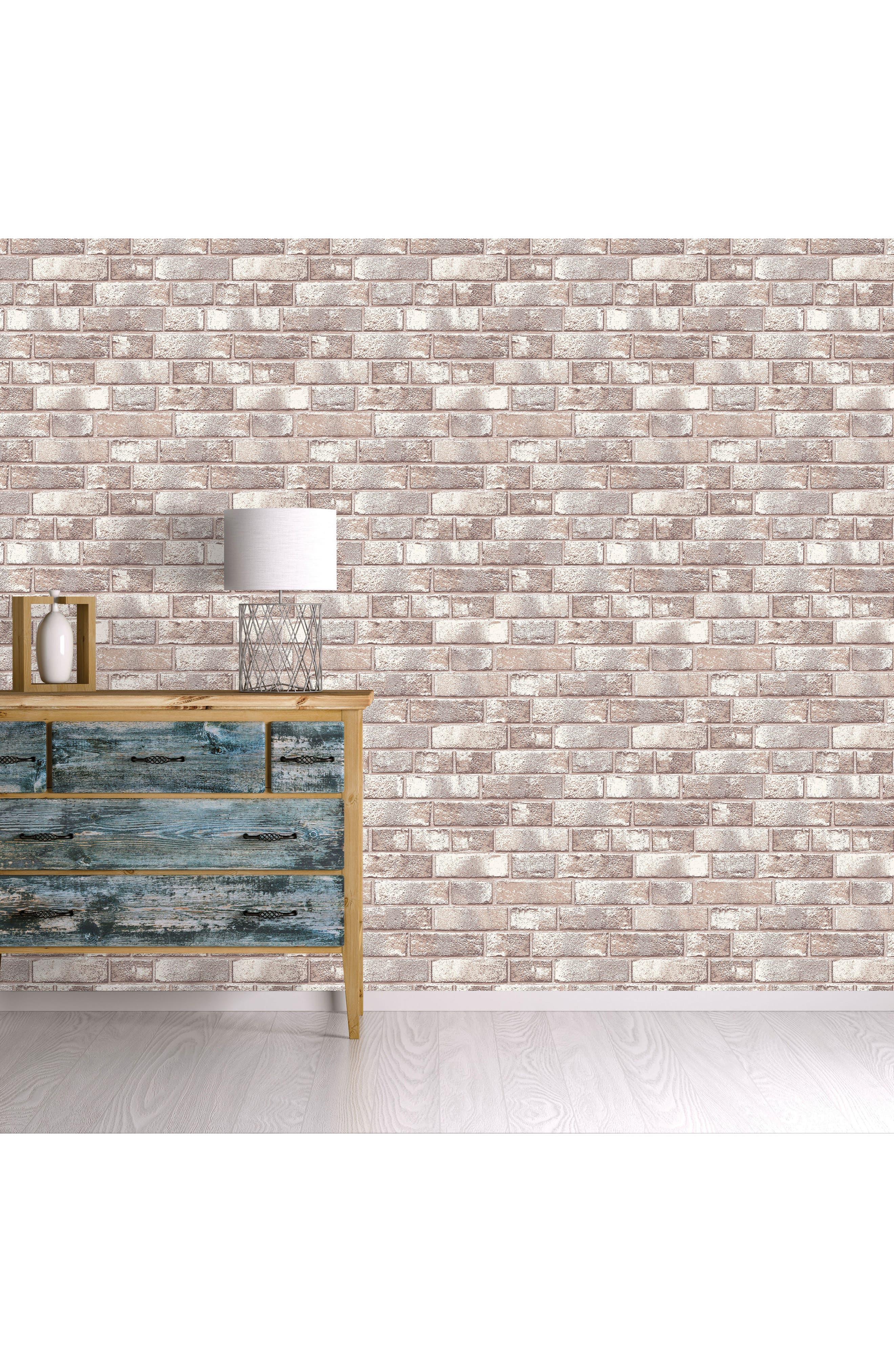 Alternate Image 2  - Tempaper Brick Self-Adhesive Vinyl Wallpaper