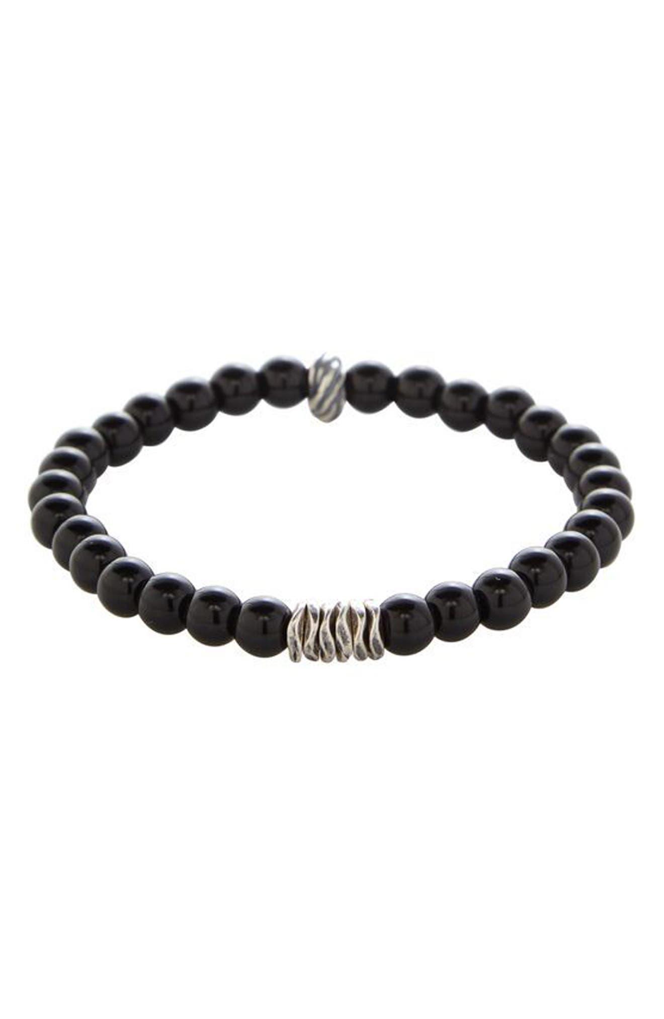 Alternate Image 1 Selected - Degs & Sal Onyx Bead Bracelet