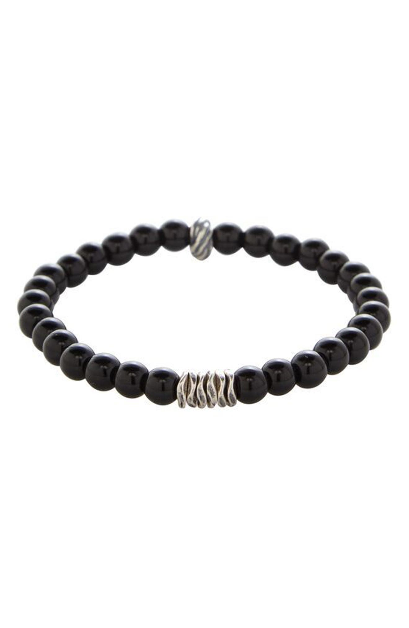 Main Image - Degs & Sal Onyx Bead Bracelet