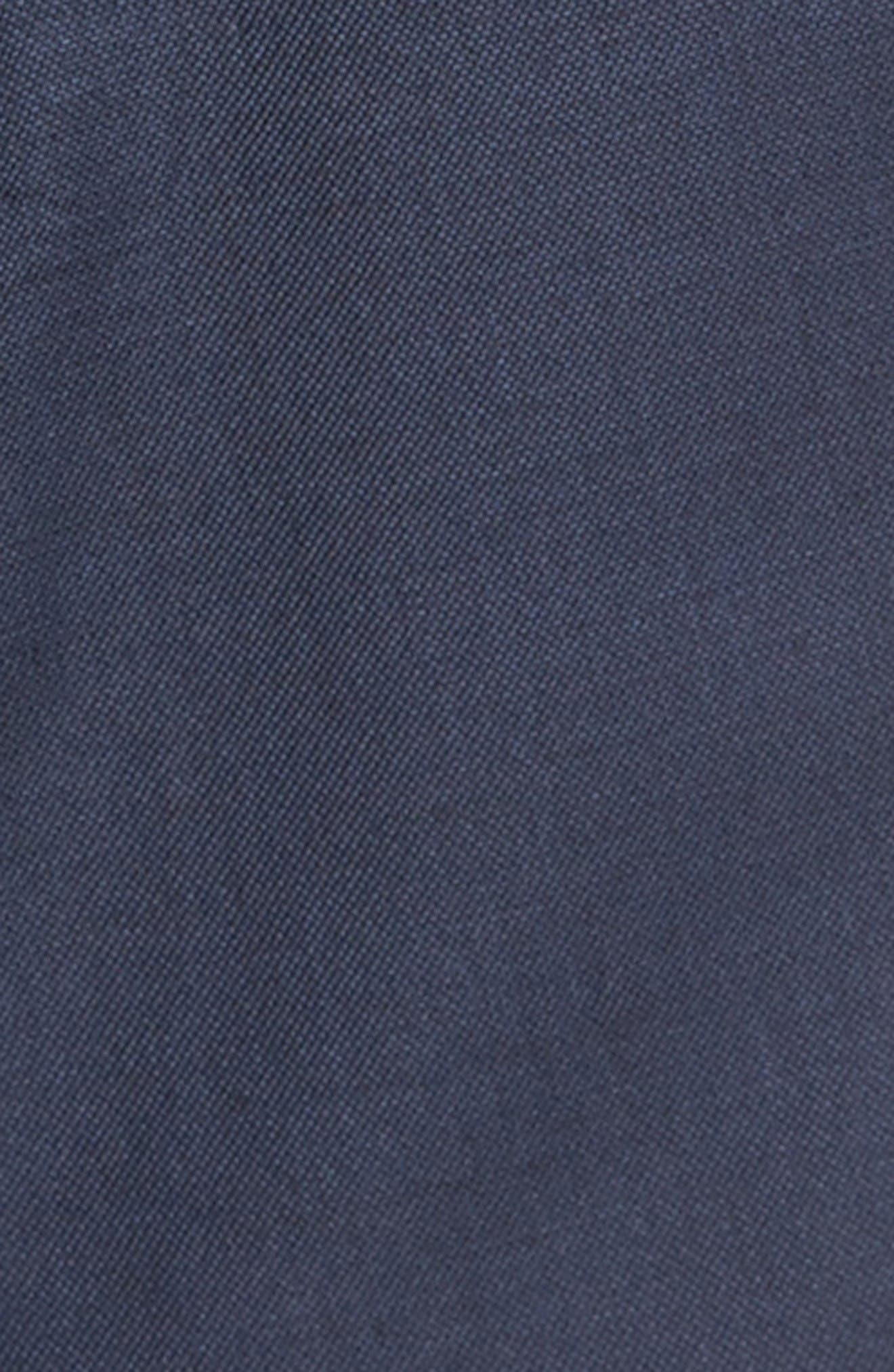 Classic Fit Sharkskin Wool Suit,                             Alternate thumbnail 7, color,                             Navy