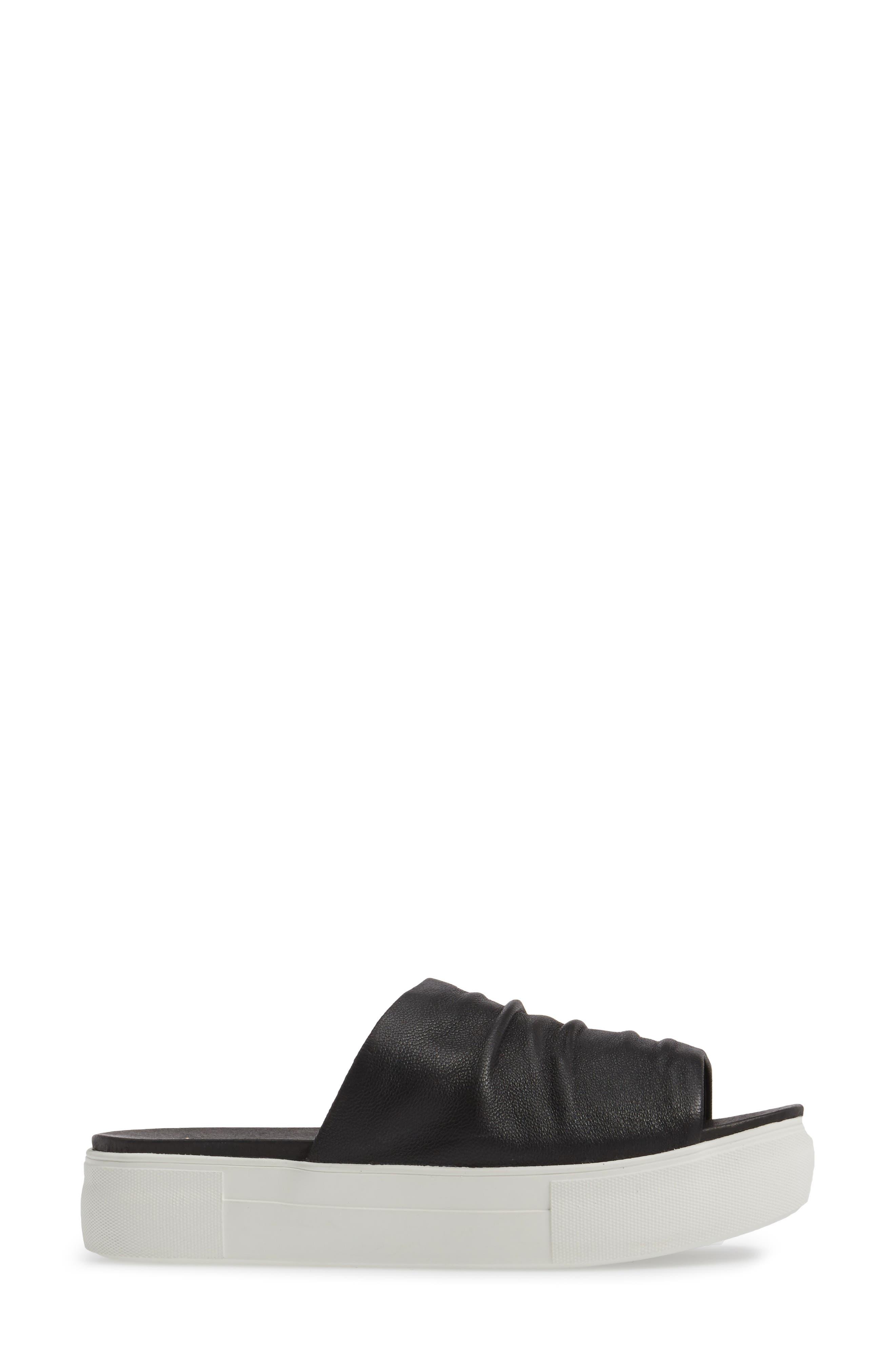 Alura Platform Slide Sandal,                             Alternate thumbnail 2, color,                             Black Leather