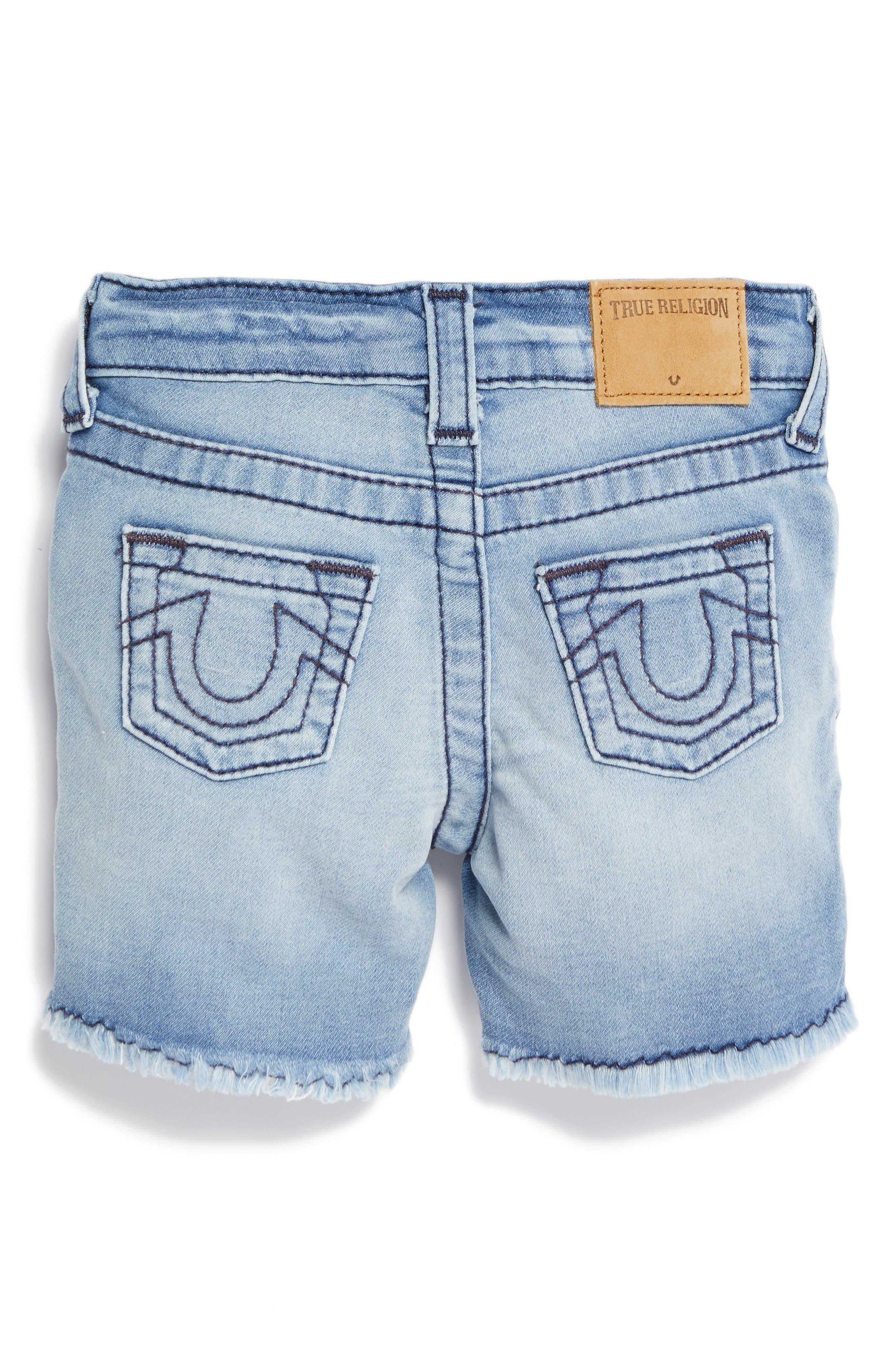 Alternate Image 2  - True Religion Geno Denim Shorts (Baby)