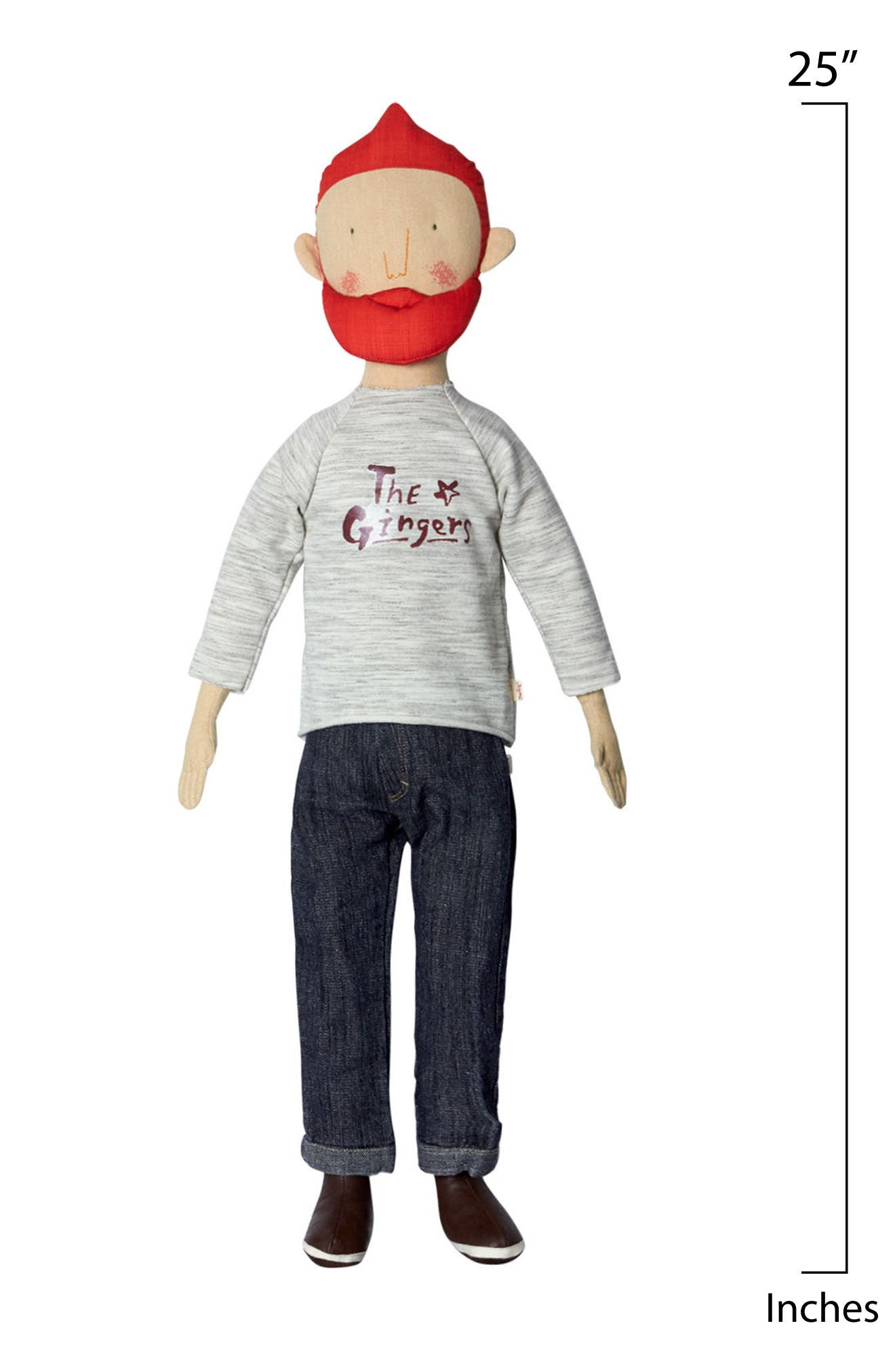 Size 2 Ginger Dad Doll,                             Alternate thumbnail 2, color,                             Ivory