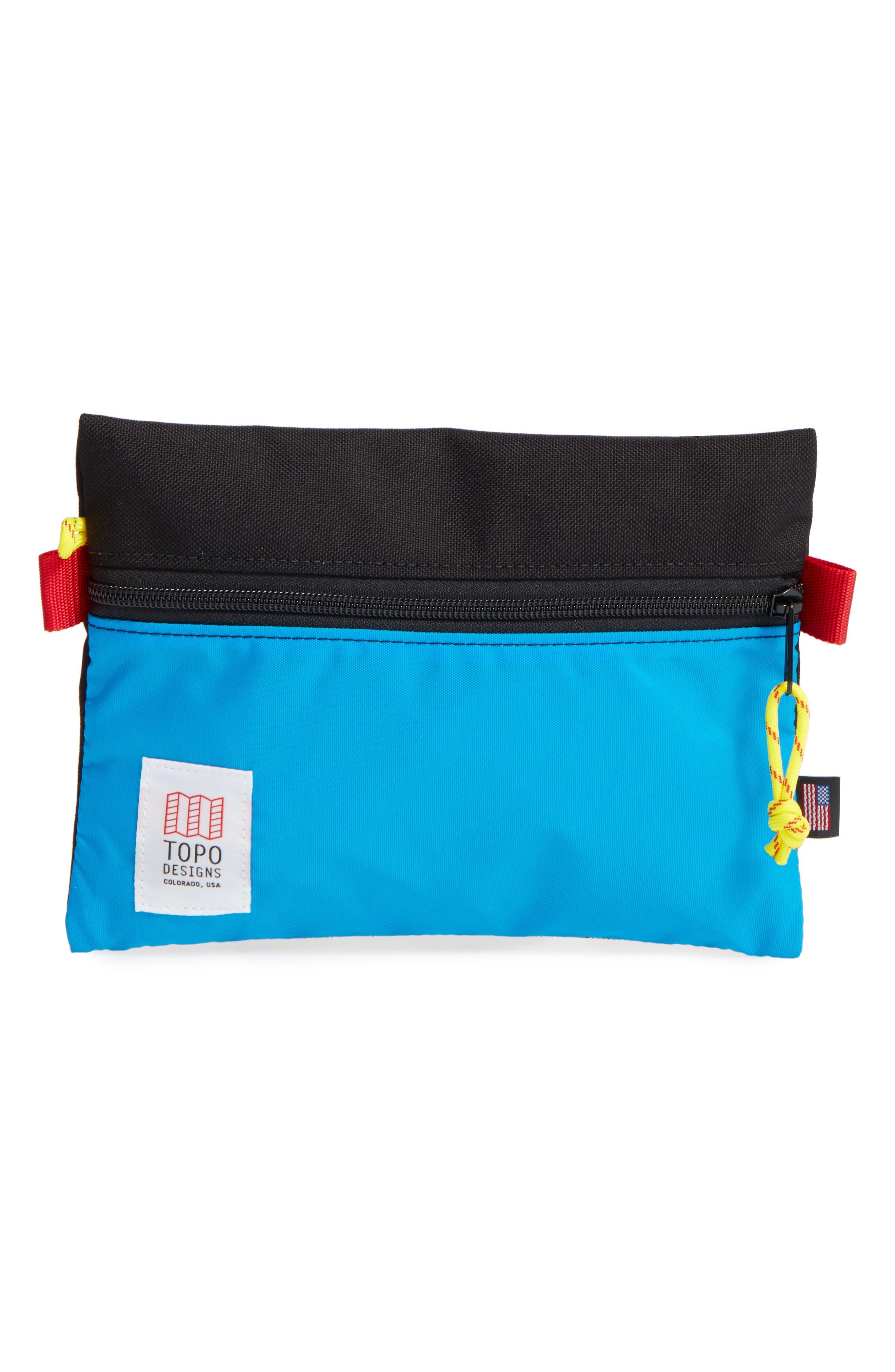 TopoDesigns Accessory Bag,                             Main thumbnail 1, color,                             Black/ Royal