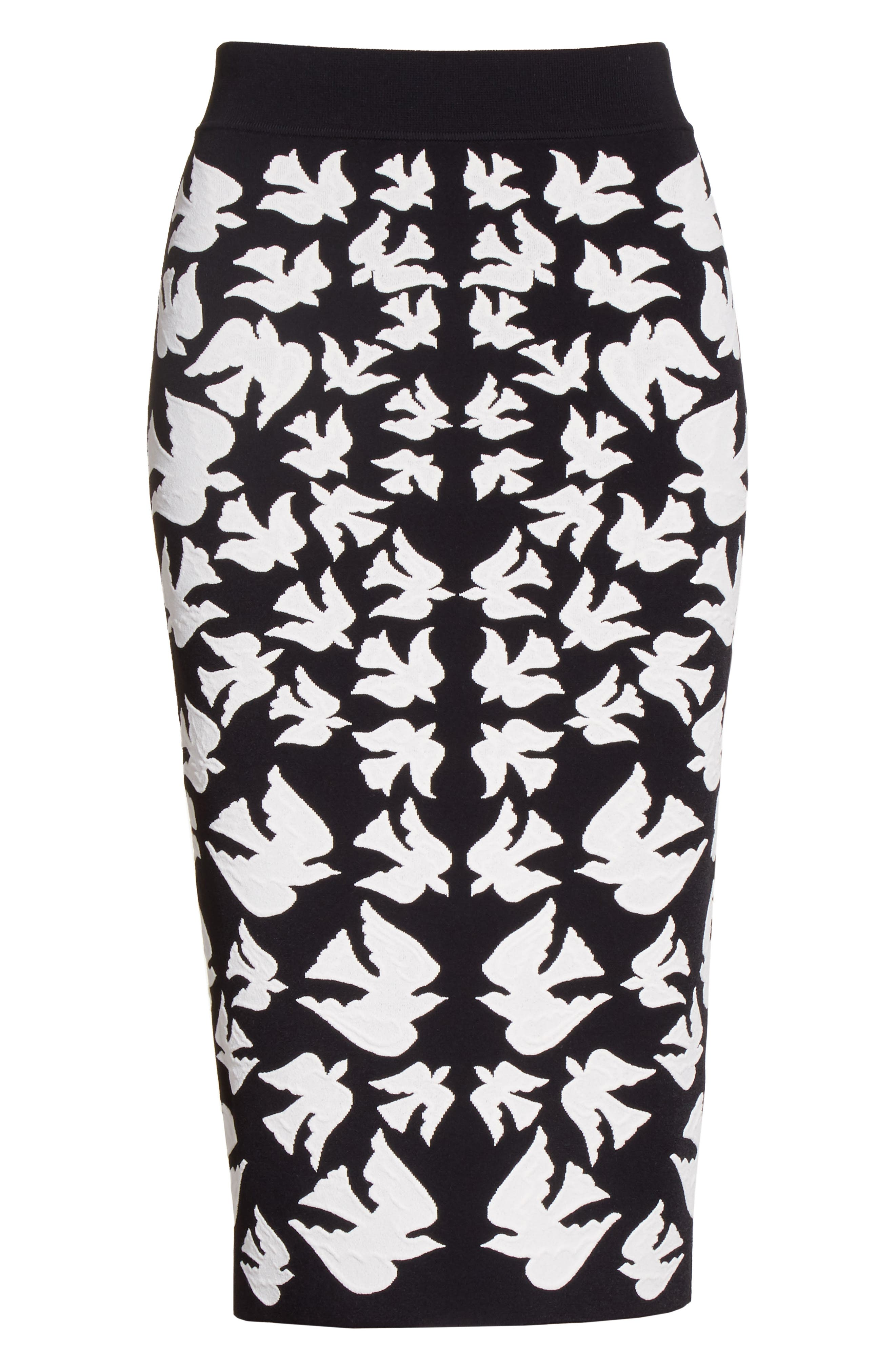 Alternate Image 4  - Alexander McQueen Swallow Jacquard Pencil Skirt