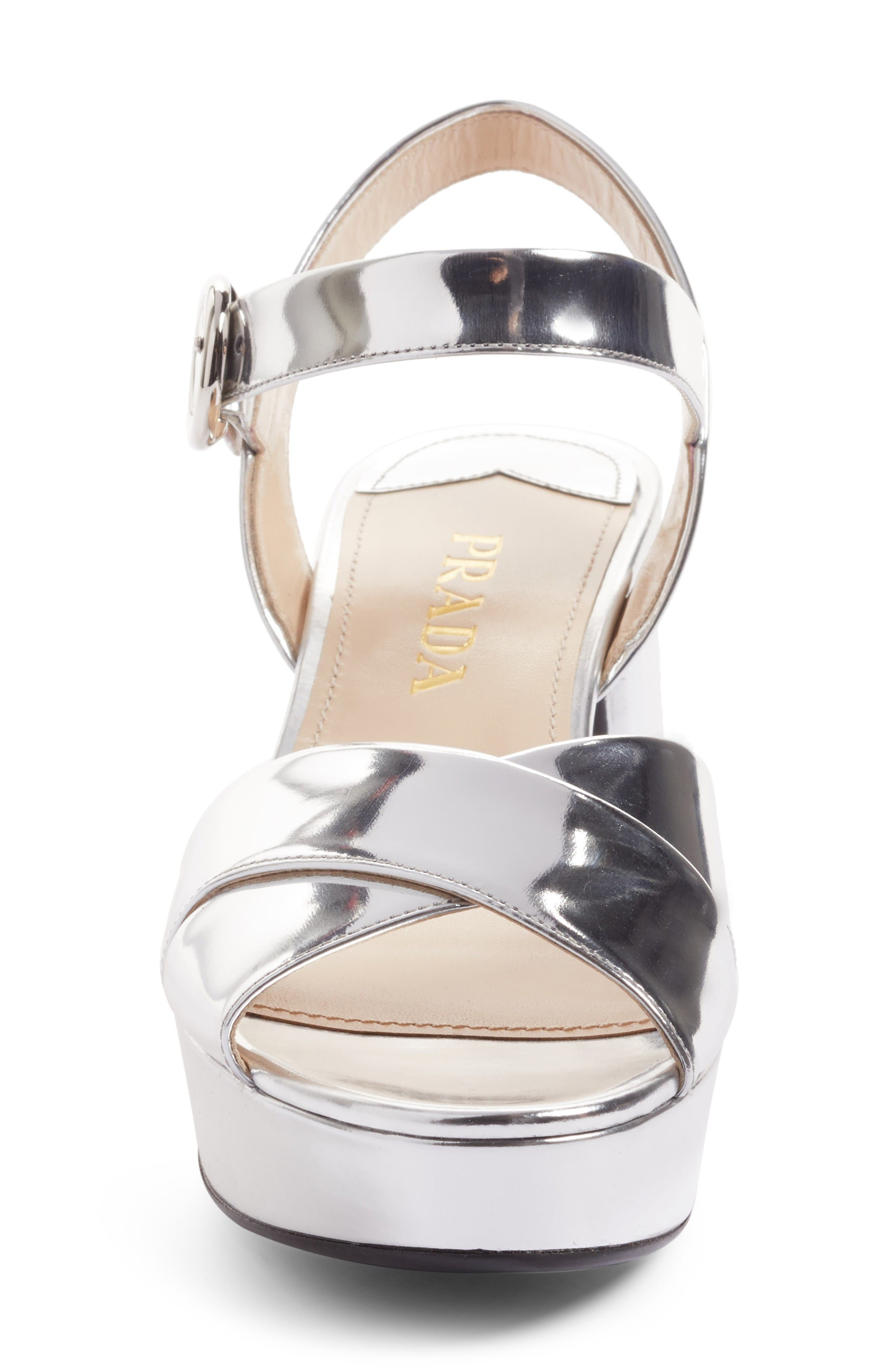 Alternate Image 4  - Prada Strappy Platform Sandal (Women)