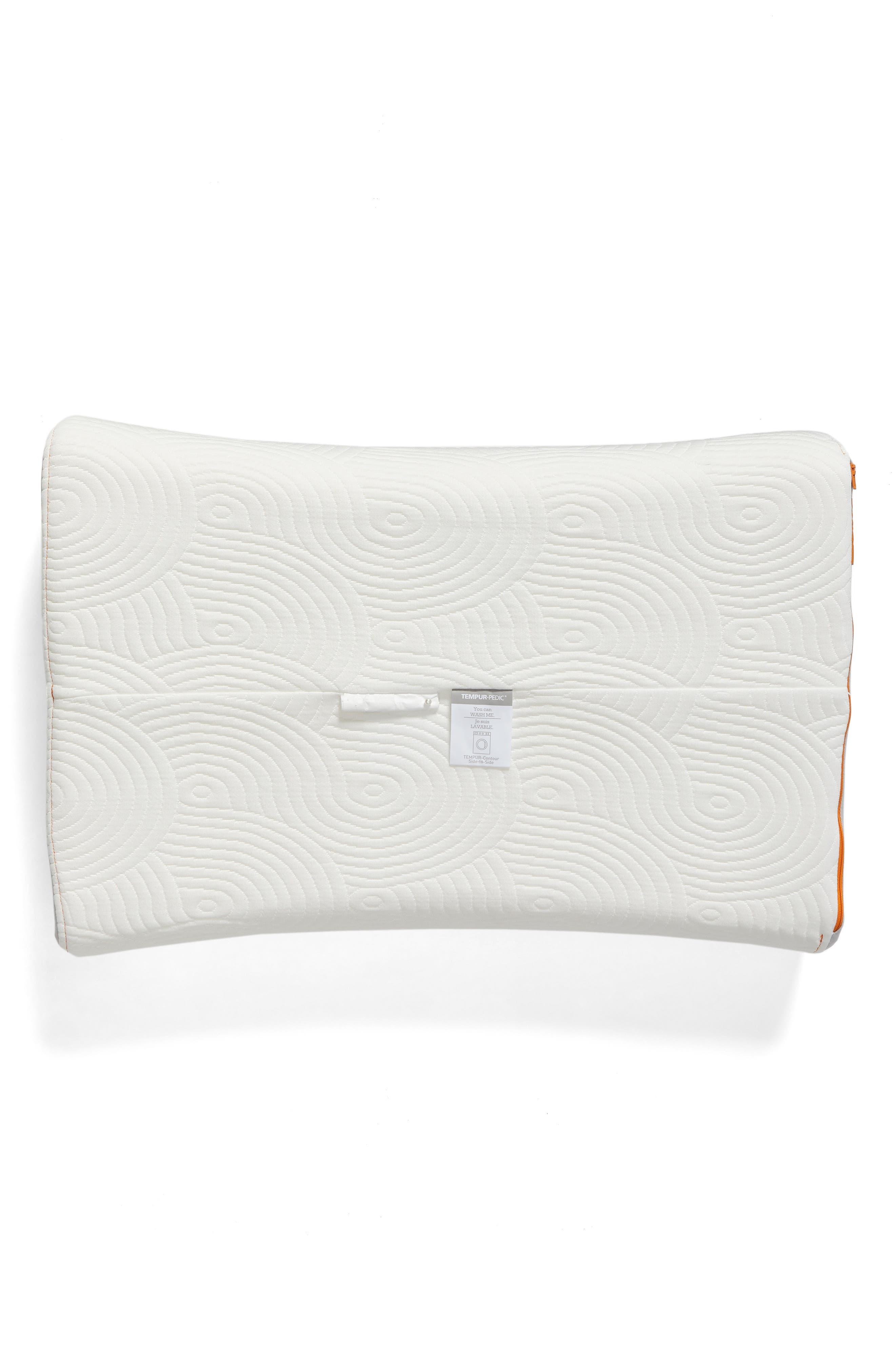 TEMPUR-Contour Side-to-Side Pillow,                             Alternate thumbnail 3, color,                             White