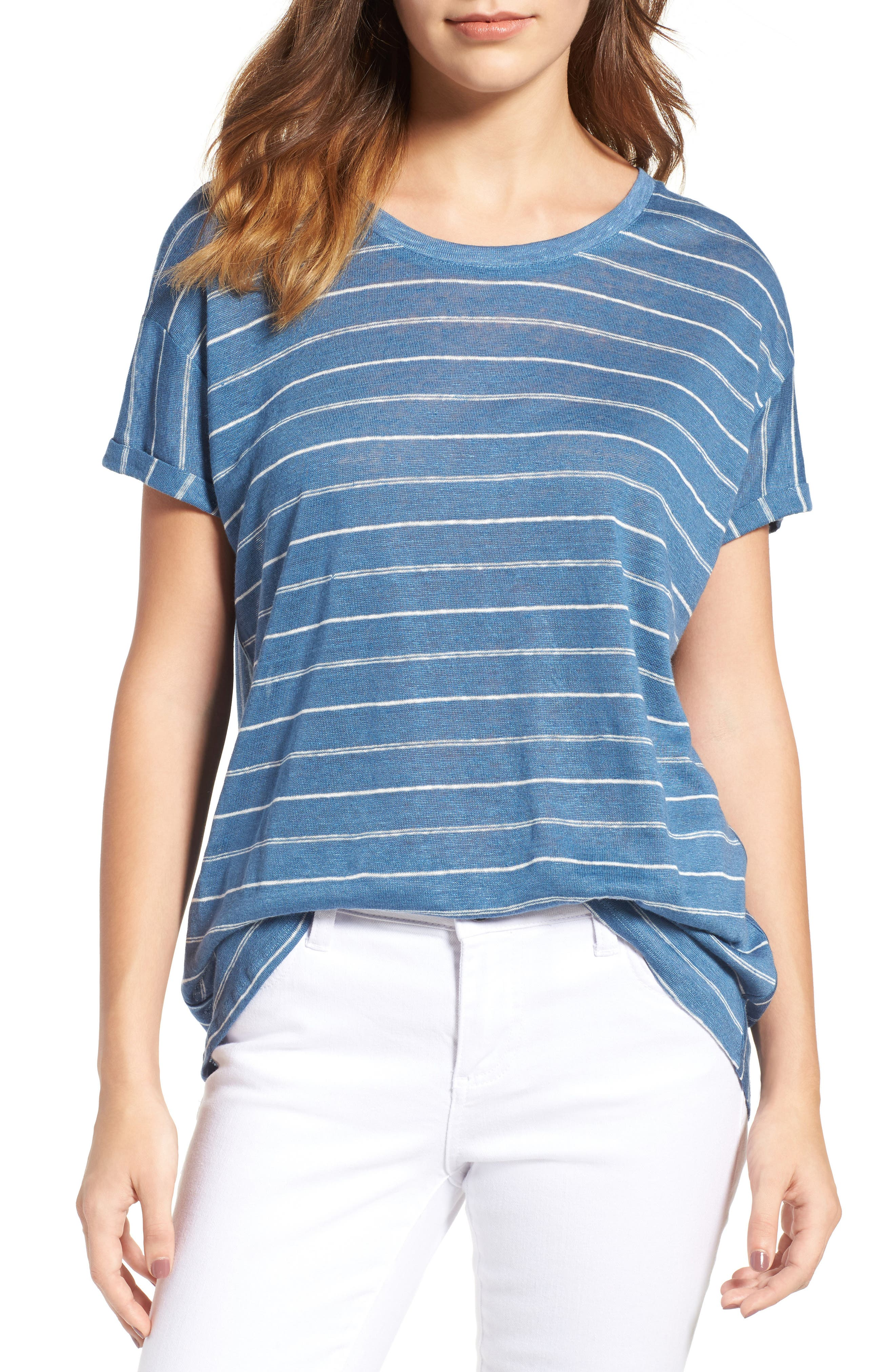 Two by Vince Camuto Stripe Linen Tee