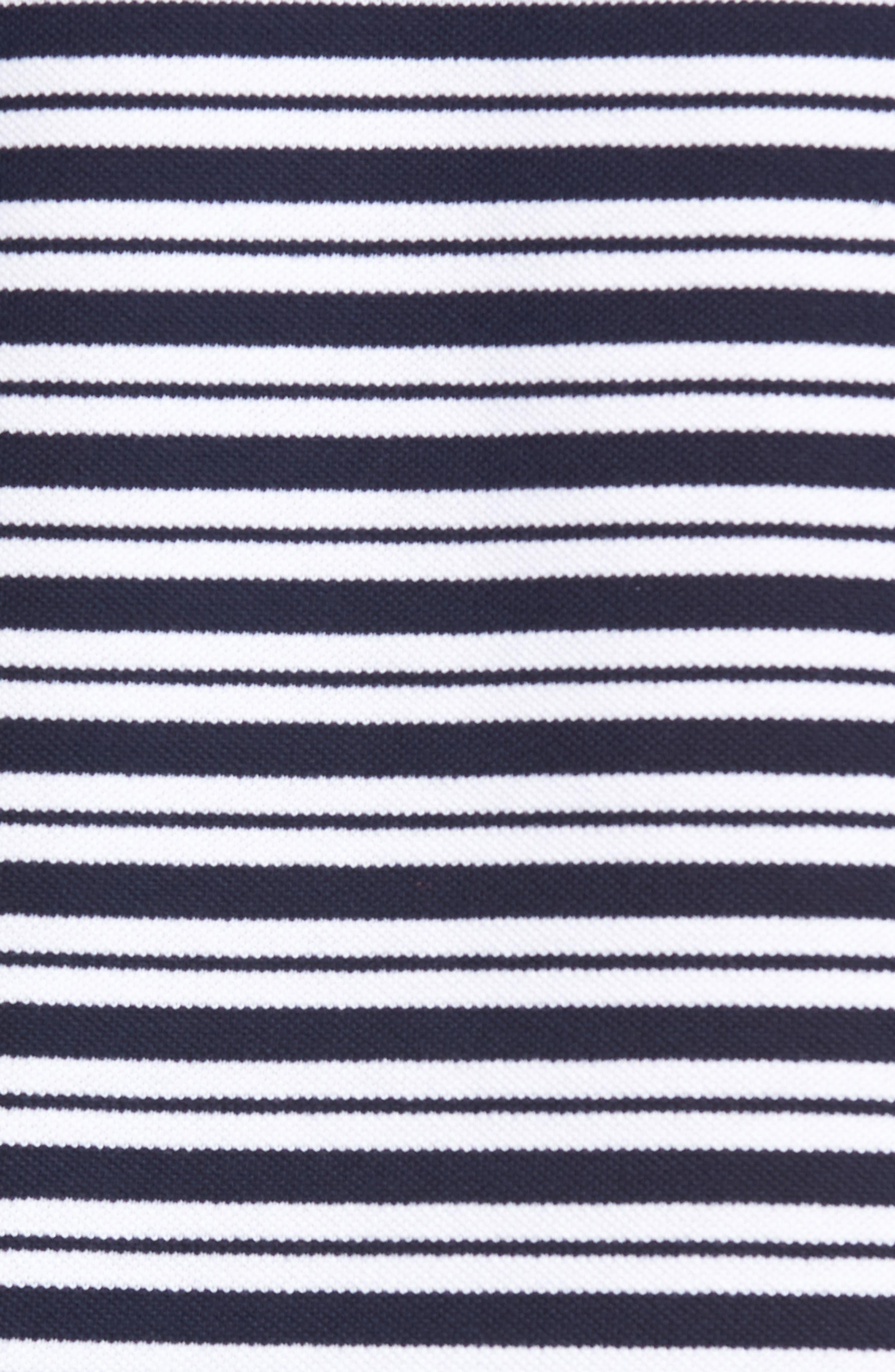 Striped Polo,                             Alternate thumbnail 5, color,                             Navy Blue/ White