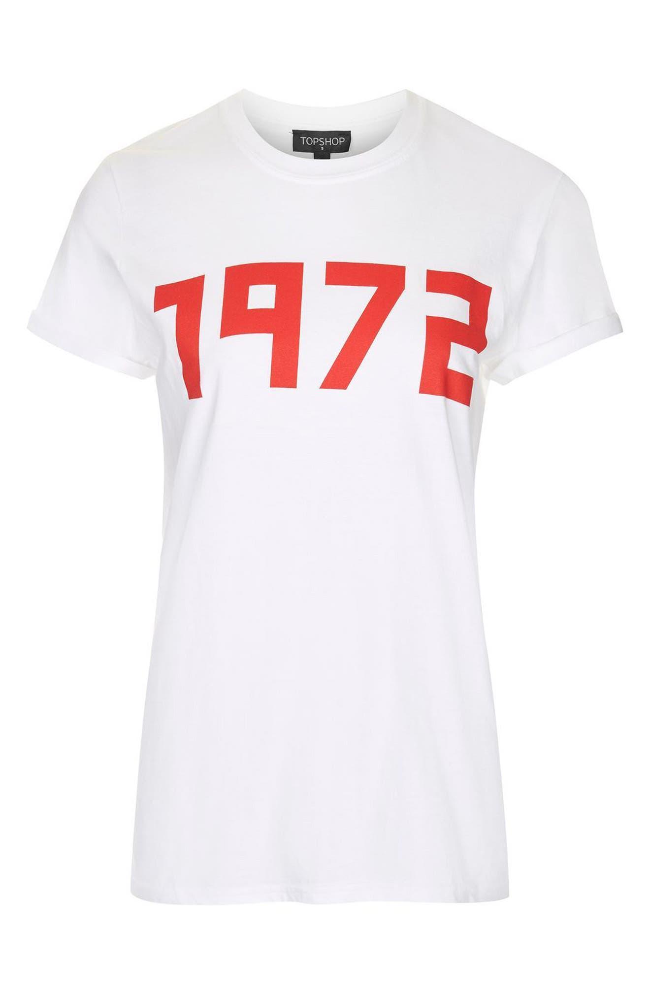 Alternate Image 4  - Topshop 1972 Tee (Regular & Petite)