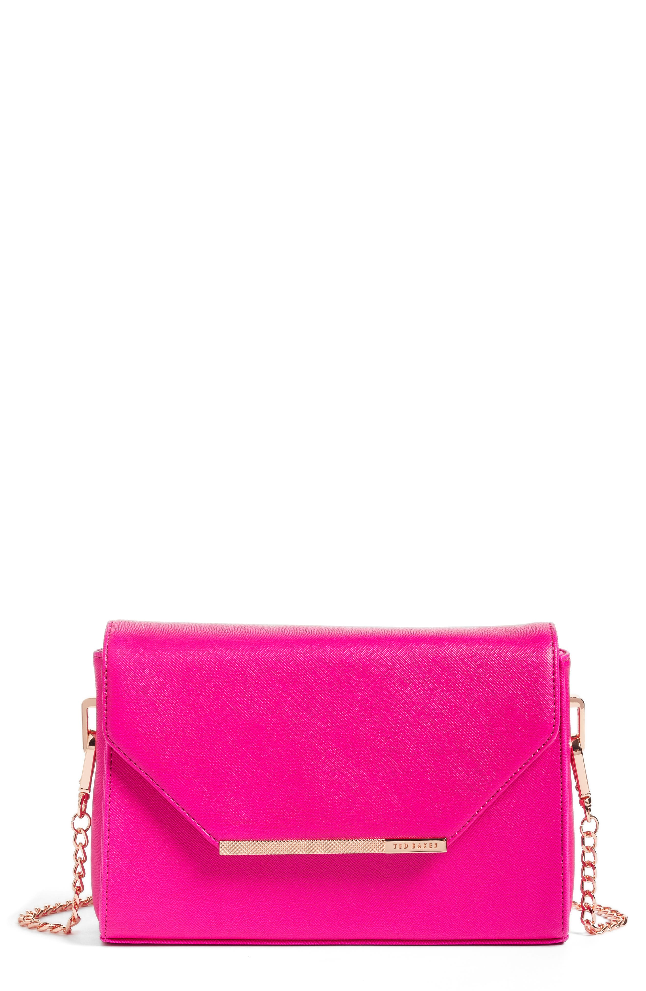 TED BAKER LONDON Textured Bar Faux Leather Crossbody Bag