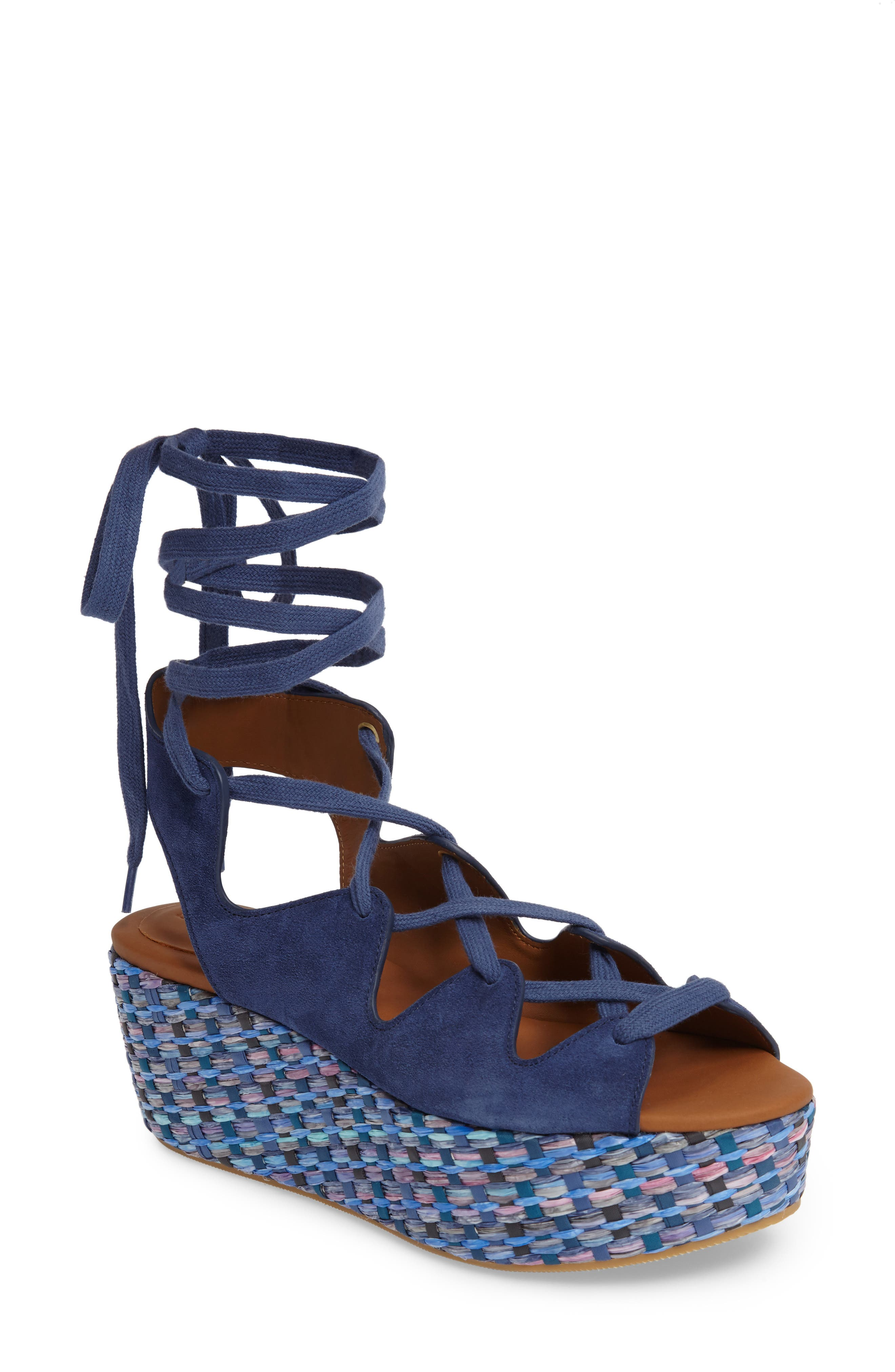 'Liana' Platform Wedge Sandal,                         Main,                         color, Sugar