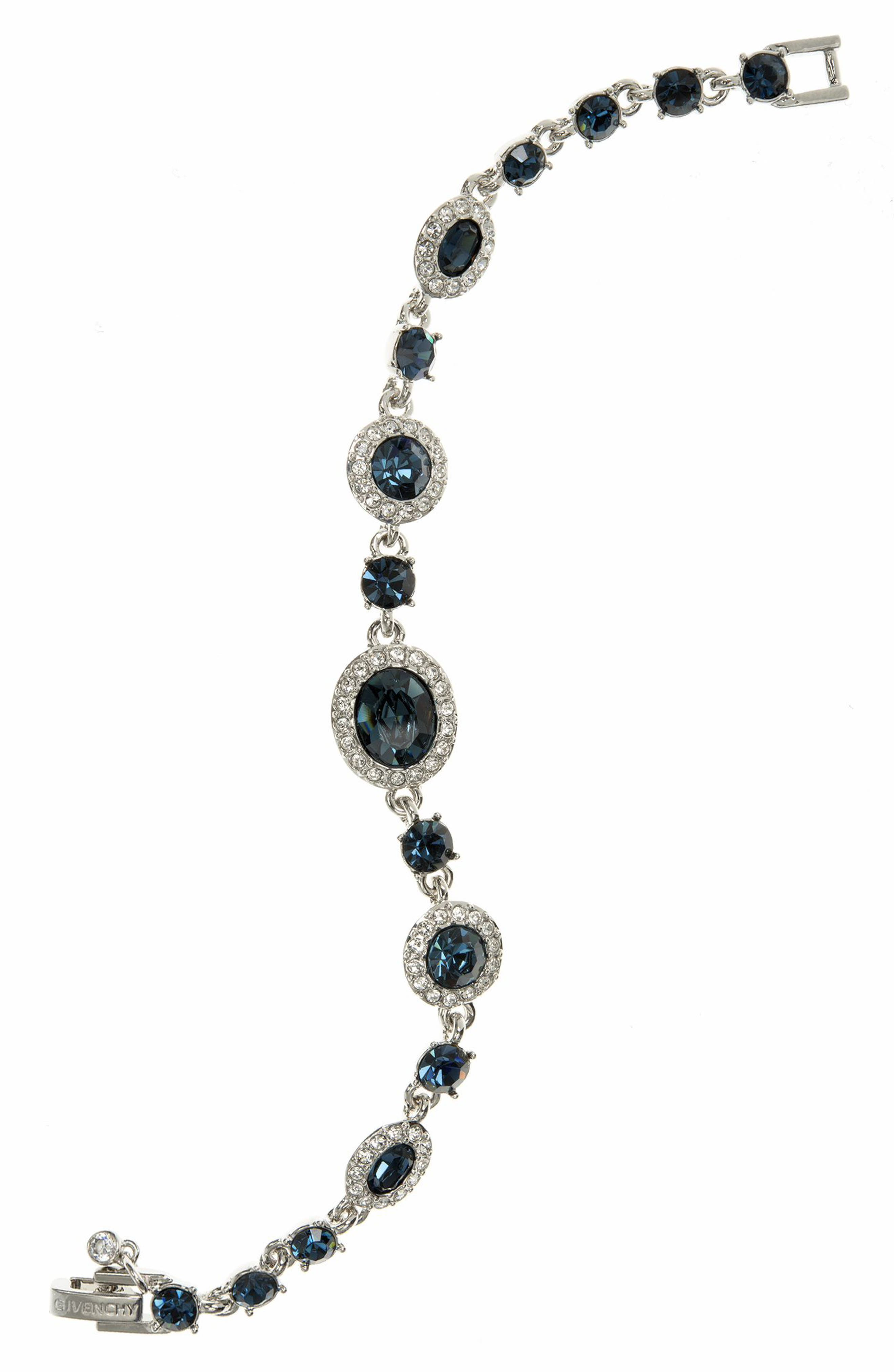 Crystal Line Bracelet,                         Main,                         color, Blue / Silver