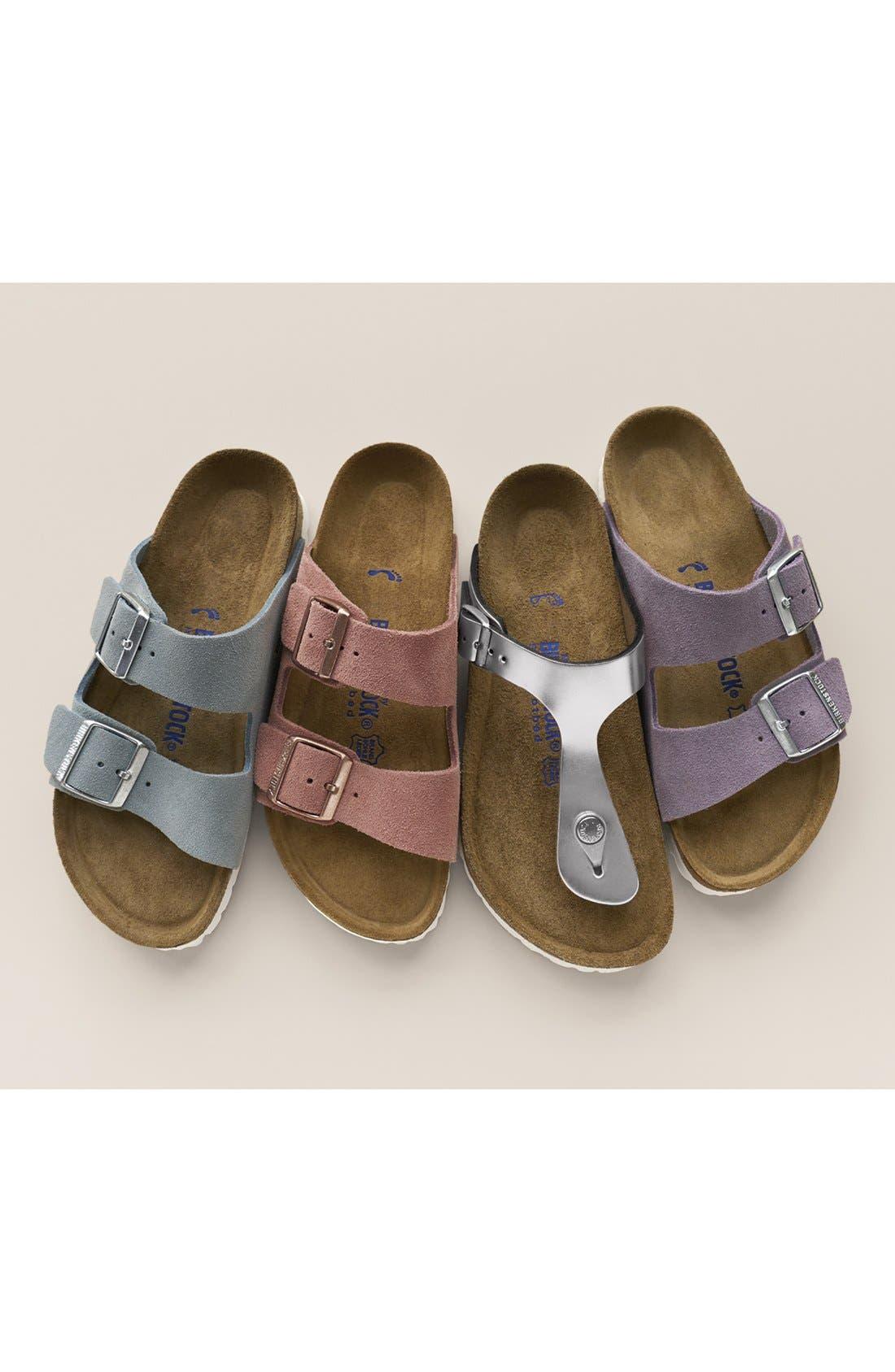 birkenstock arizona birko-flor soft footbed slide sandal (women