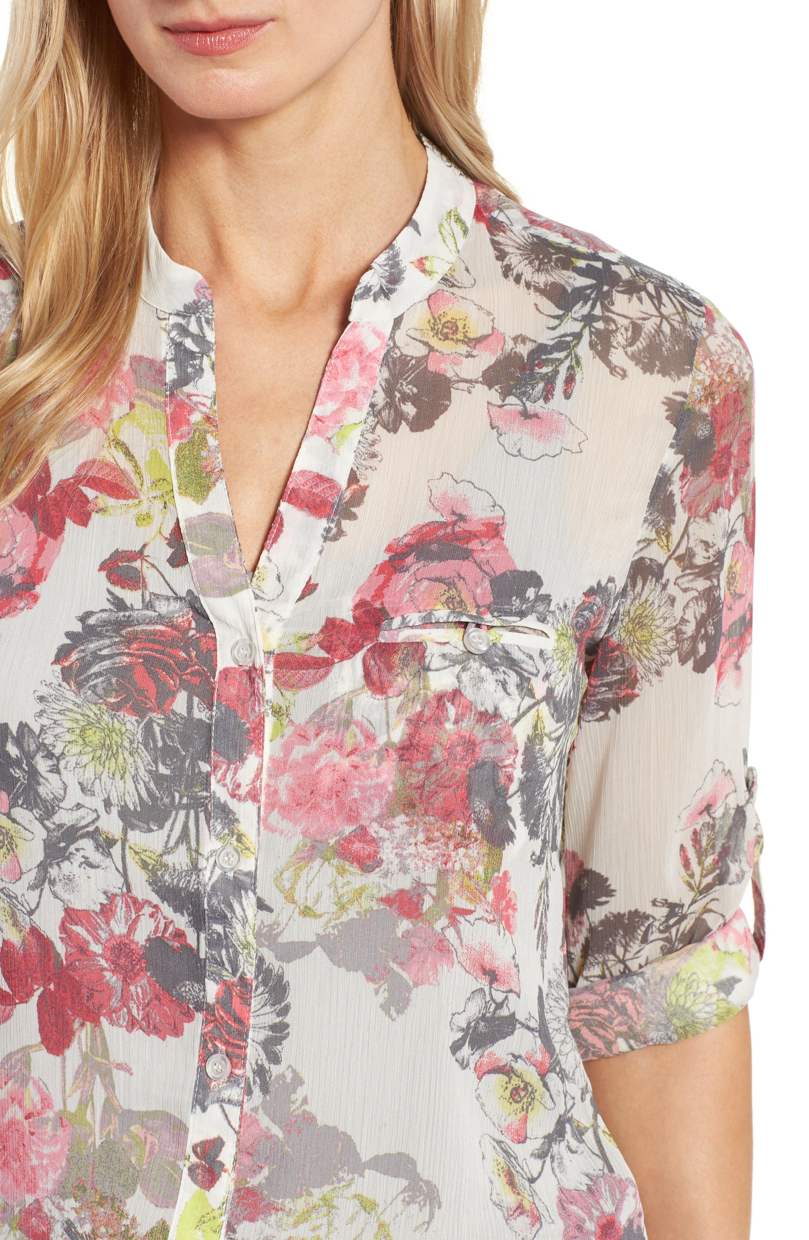 Alternate Image 4  - KUT from the Kloth Floral Print Blouse