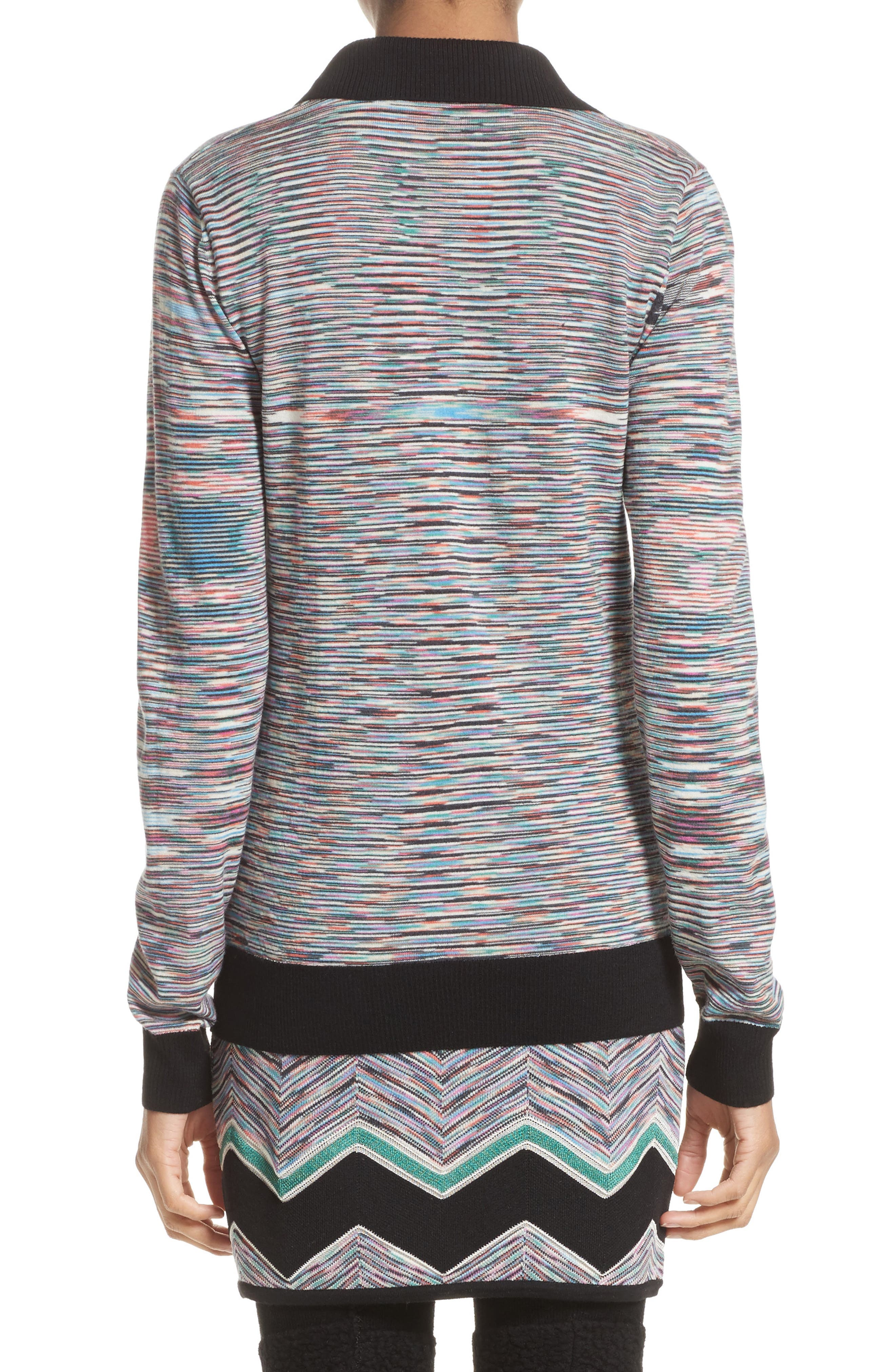 Alternate Image 2  - Missoni Space Dye Wool Blend Polo Sweater