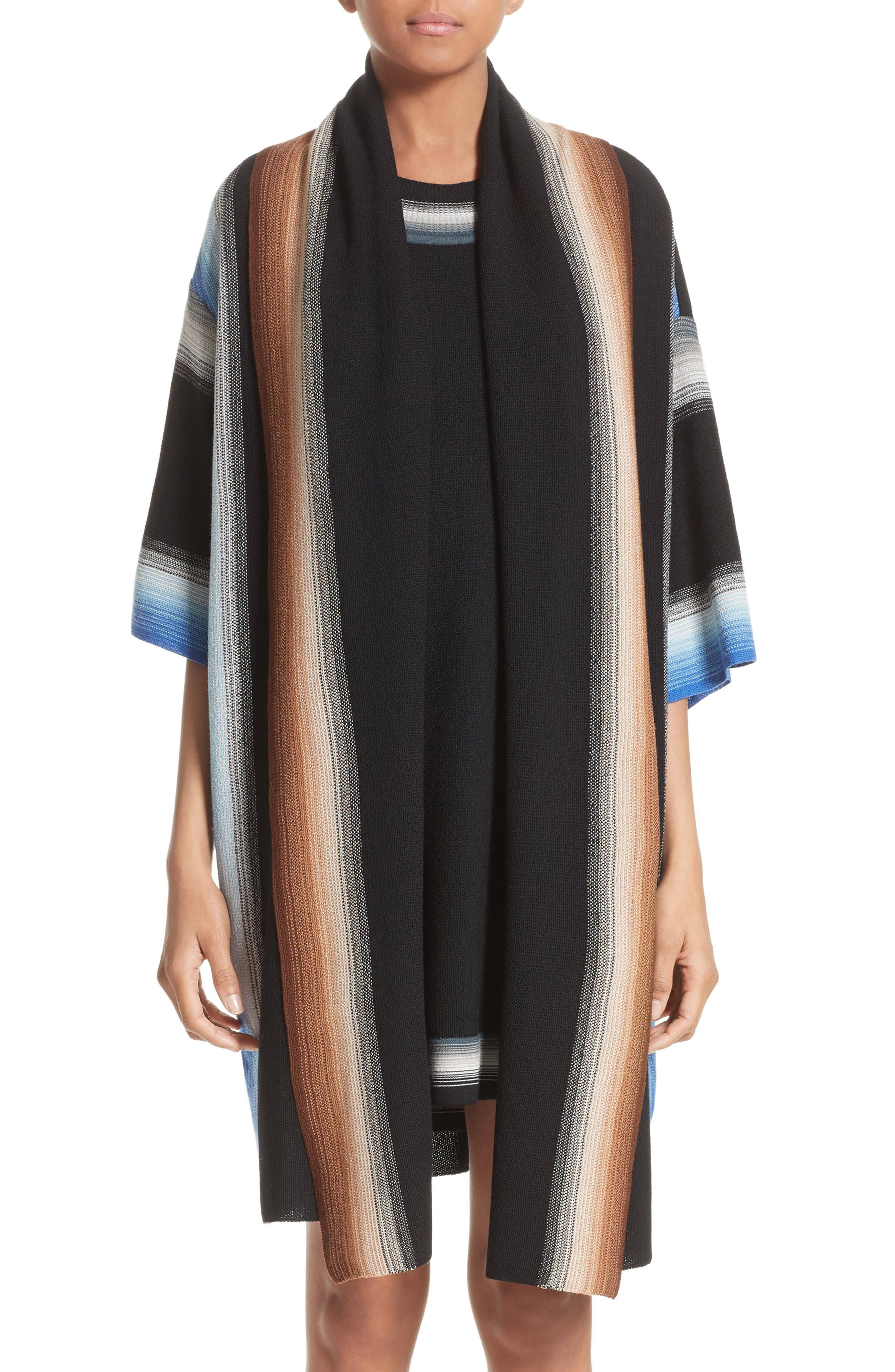 Missoni Dégradé Stripe Wool Cardigan