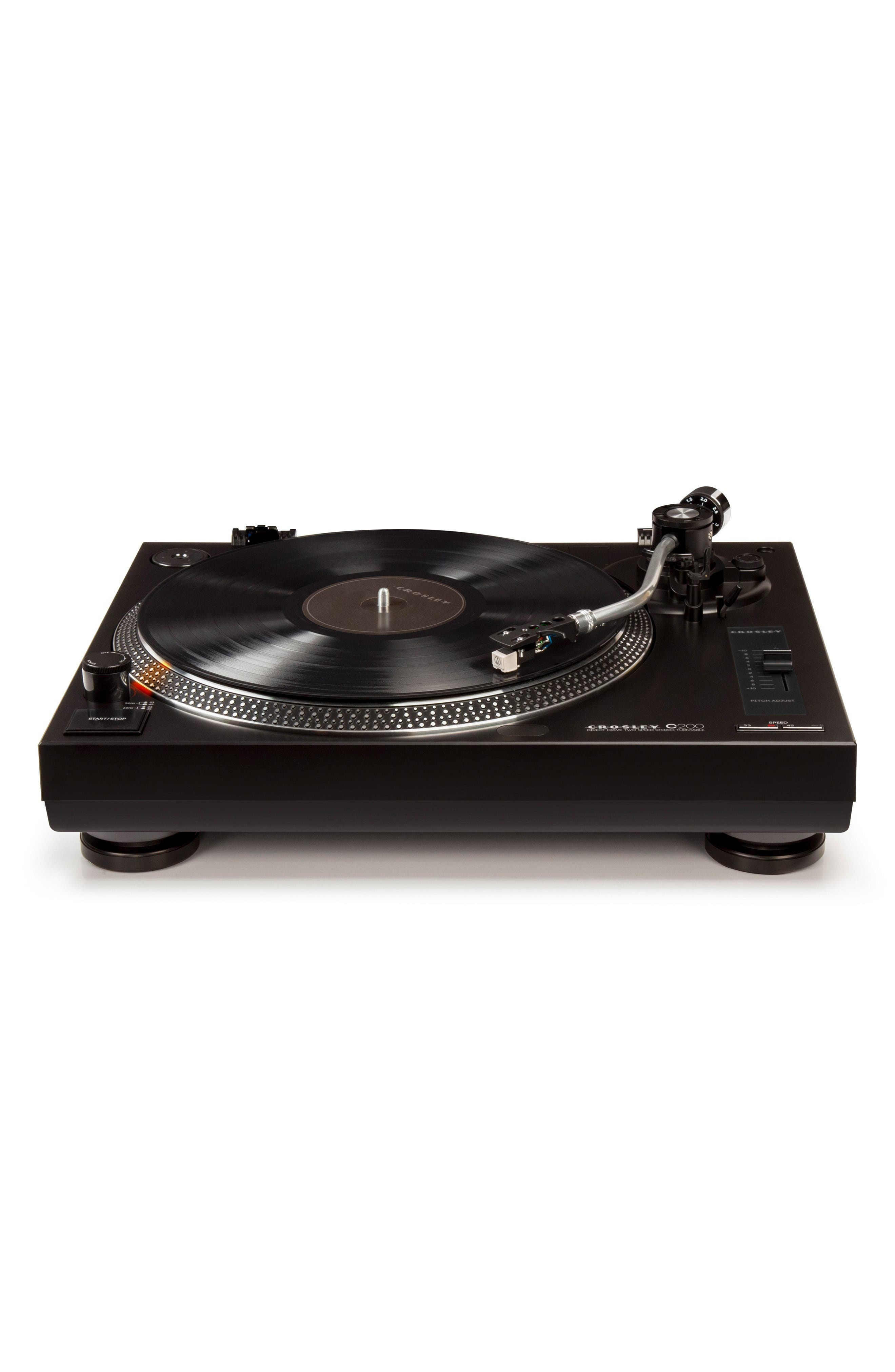 C200 Turntable,                         Main,                         color, Black