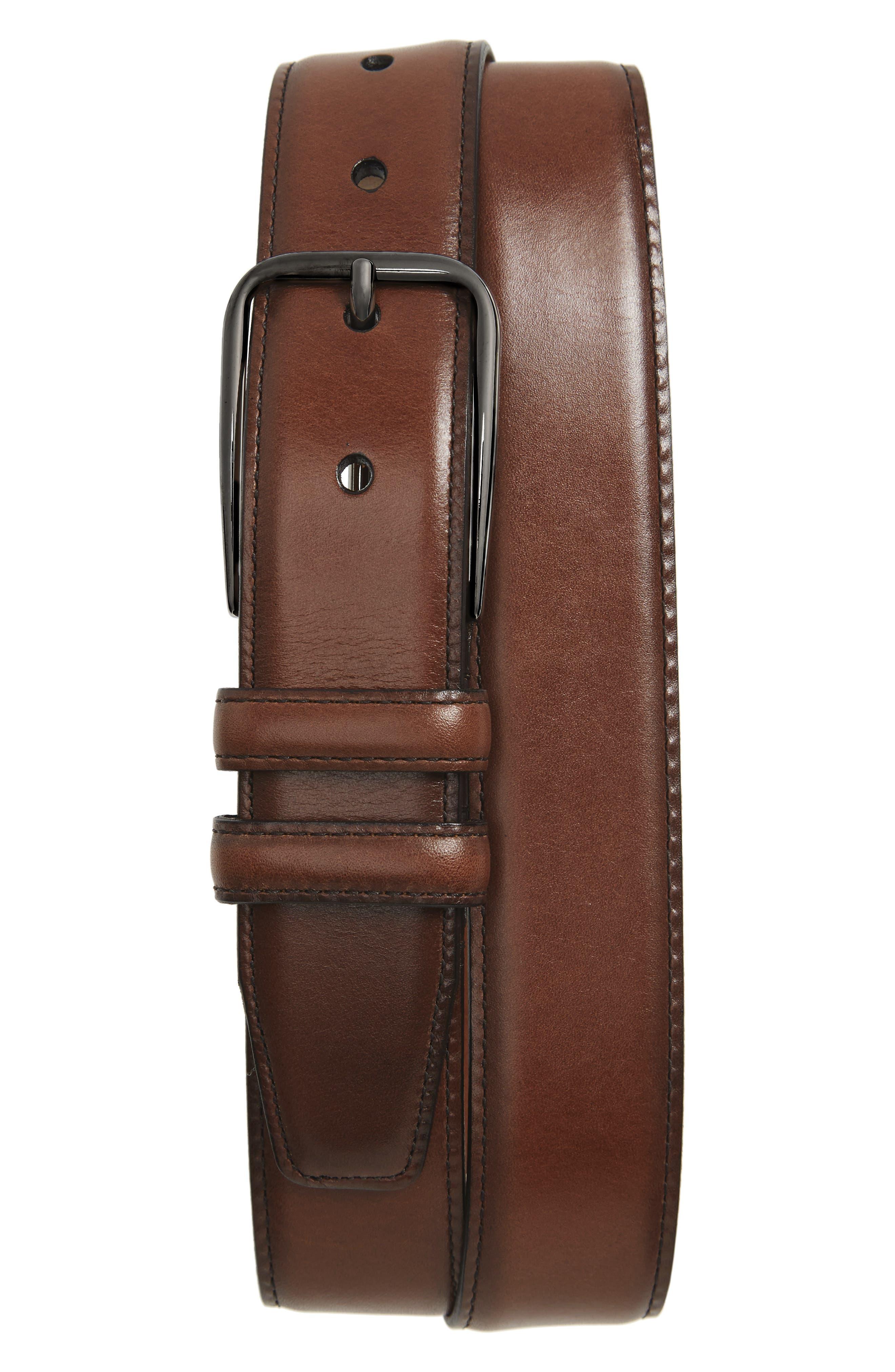 Main Image - Nordstrom Men's Shop Parker Leather Belt