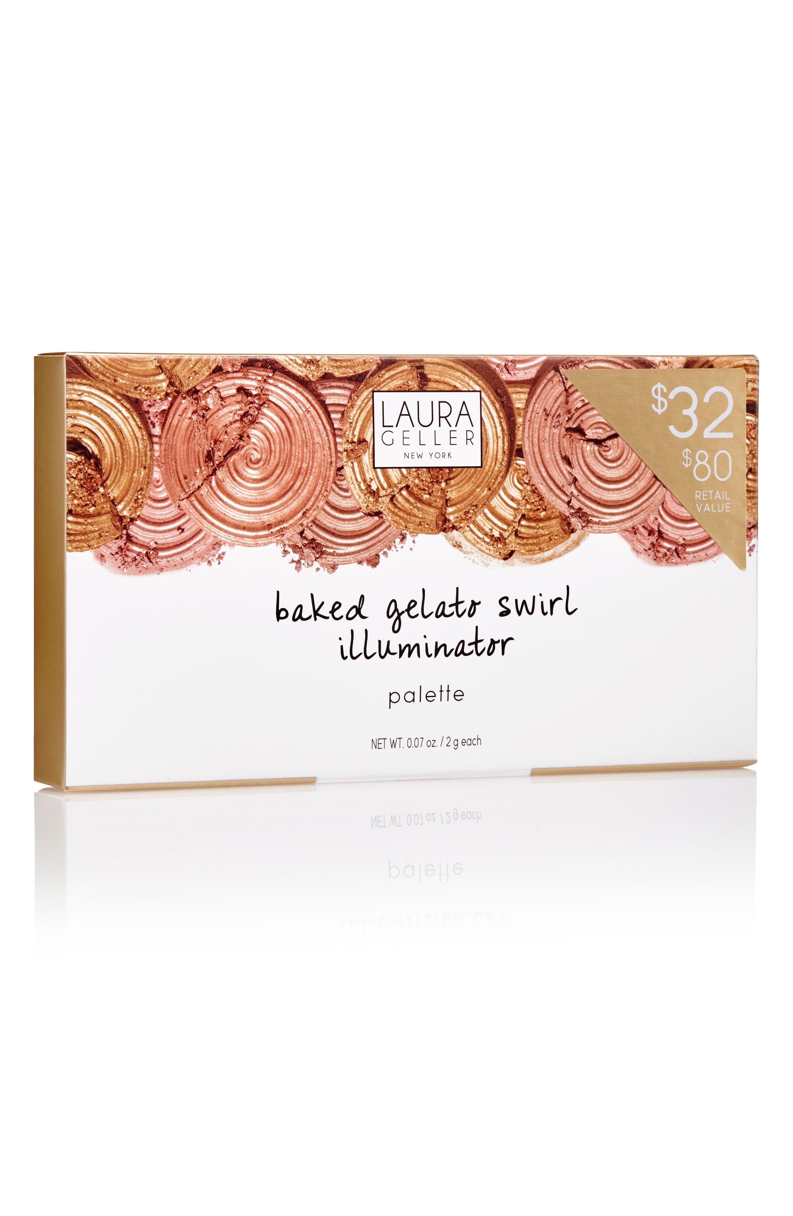 Alternate Image 4  - Laura Geller Beauty Baked Gelato Swirl Illuminator Palette ($80 Value)