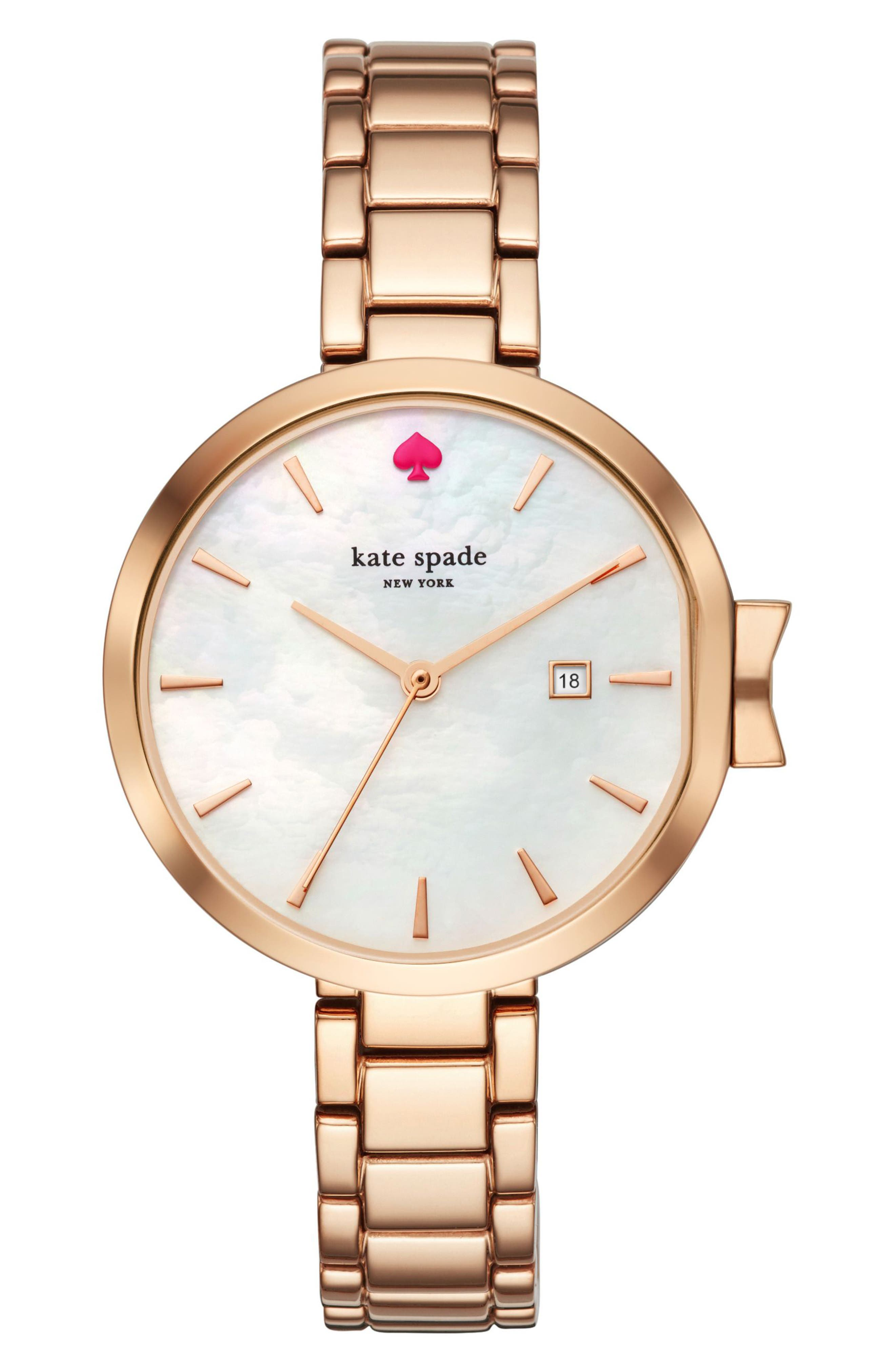 park row bracelet watch, 34mm,                         Main,                         color, Rose Gold/ Mother Of Pearl