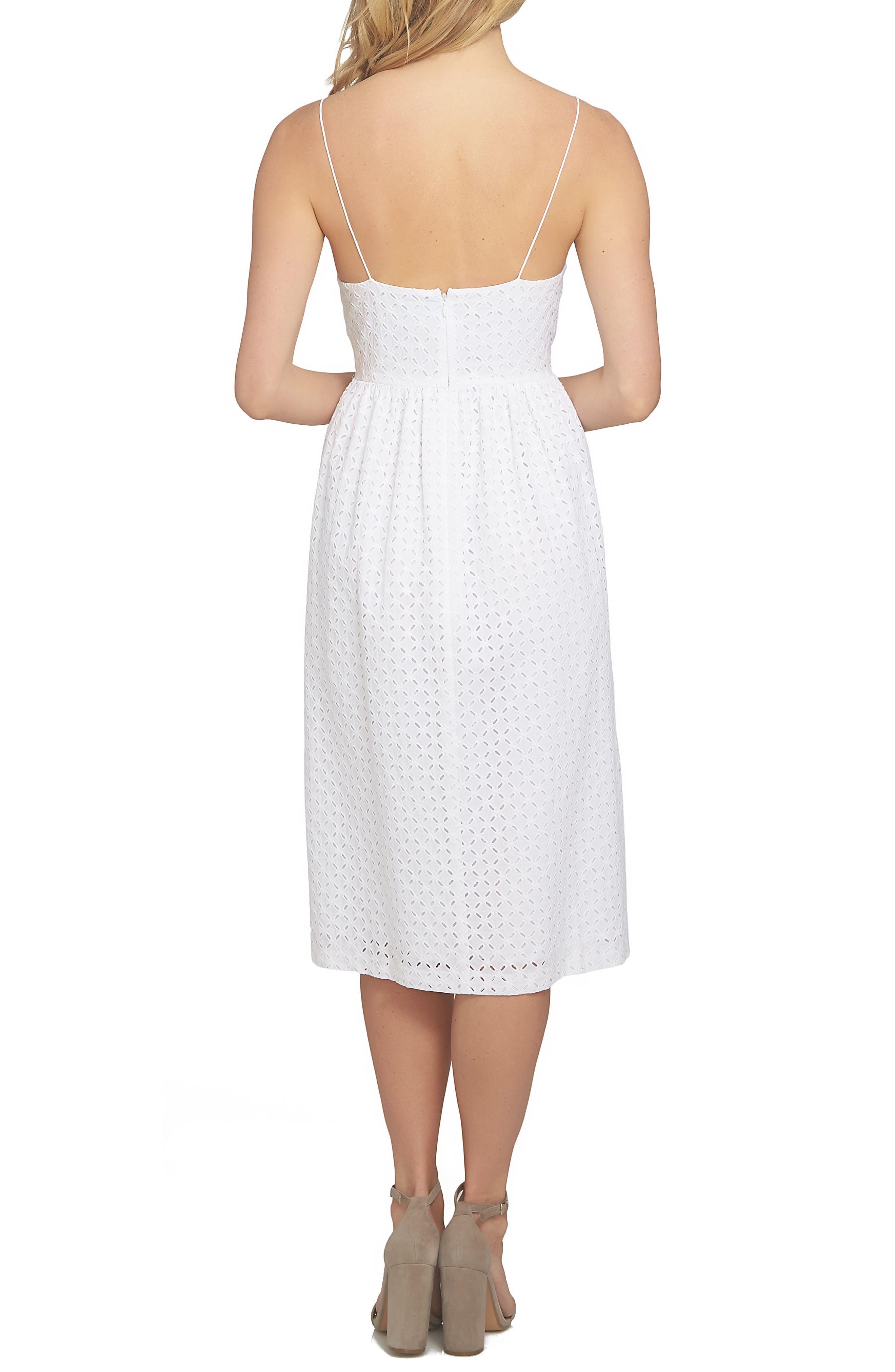 Alternate Image 2  - CeCe Aurora Eyelet Midi Dress (Regular & Petite)