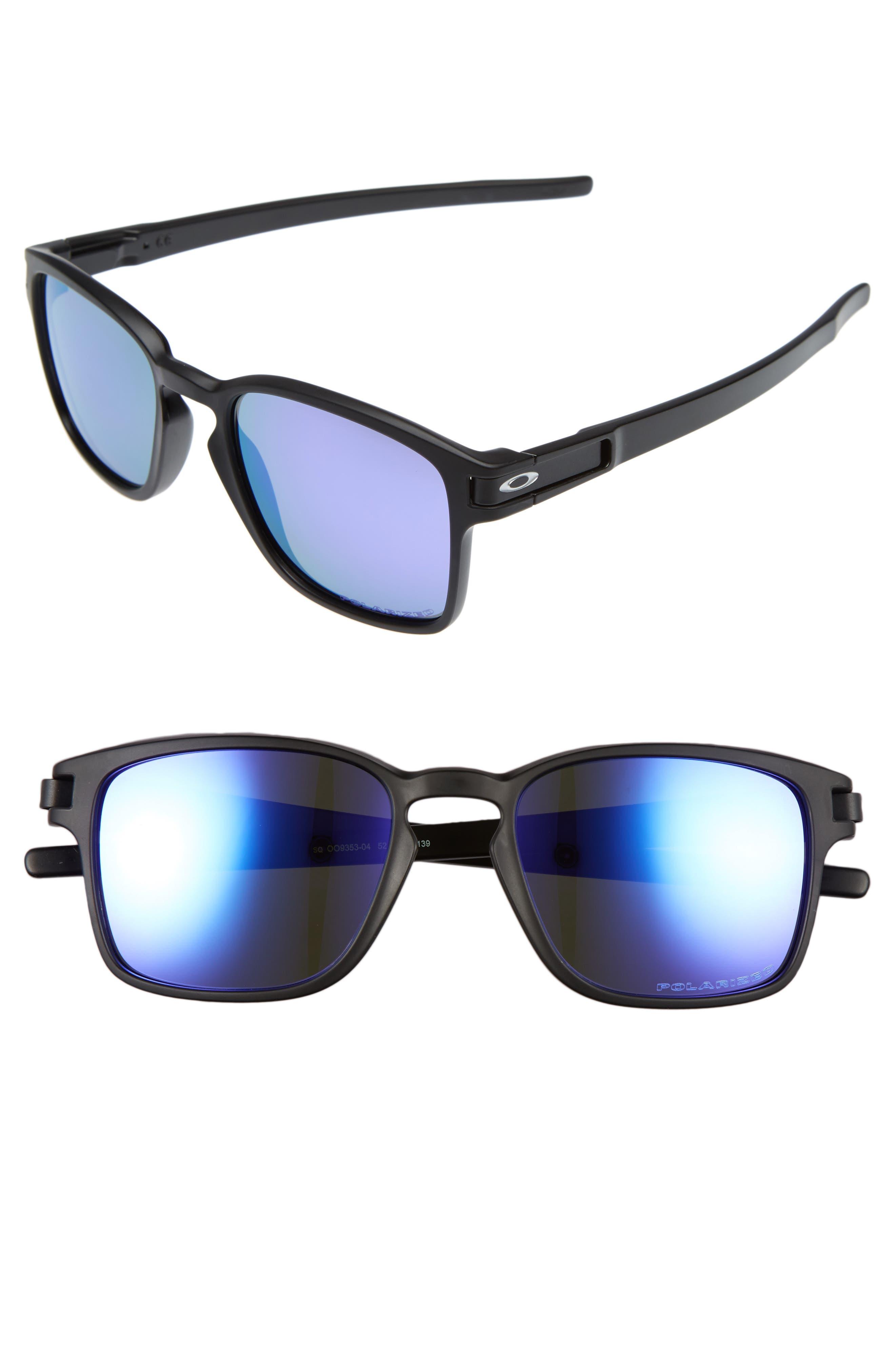 Main Image - Oakley Latch 52mm Polarized Rectangular Sunglasses