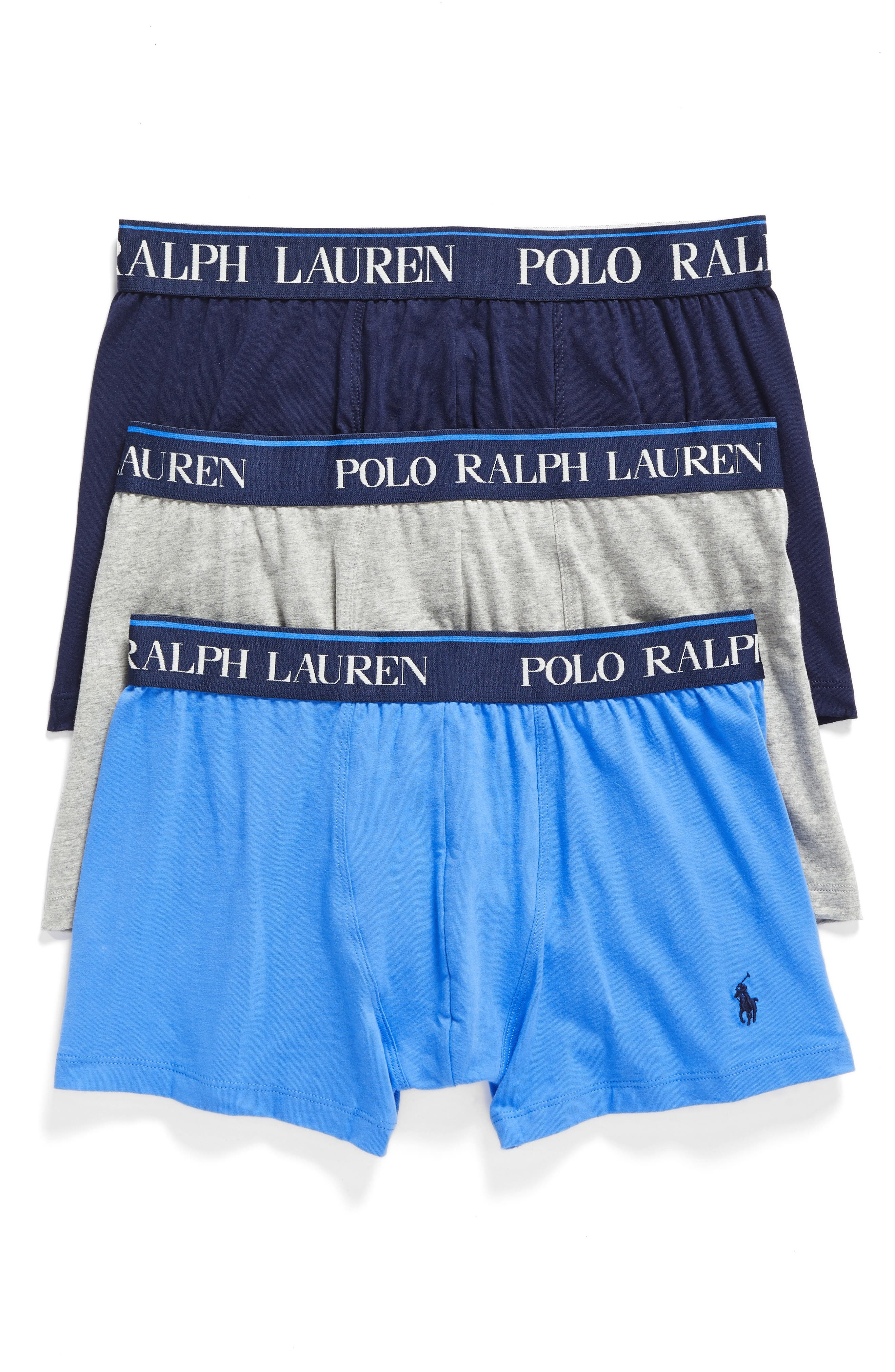 Alternate Image 1 Selected - Polo Ralph Lauren 3-Pack Stretch Cotton Boxer Briefs