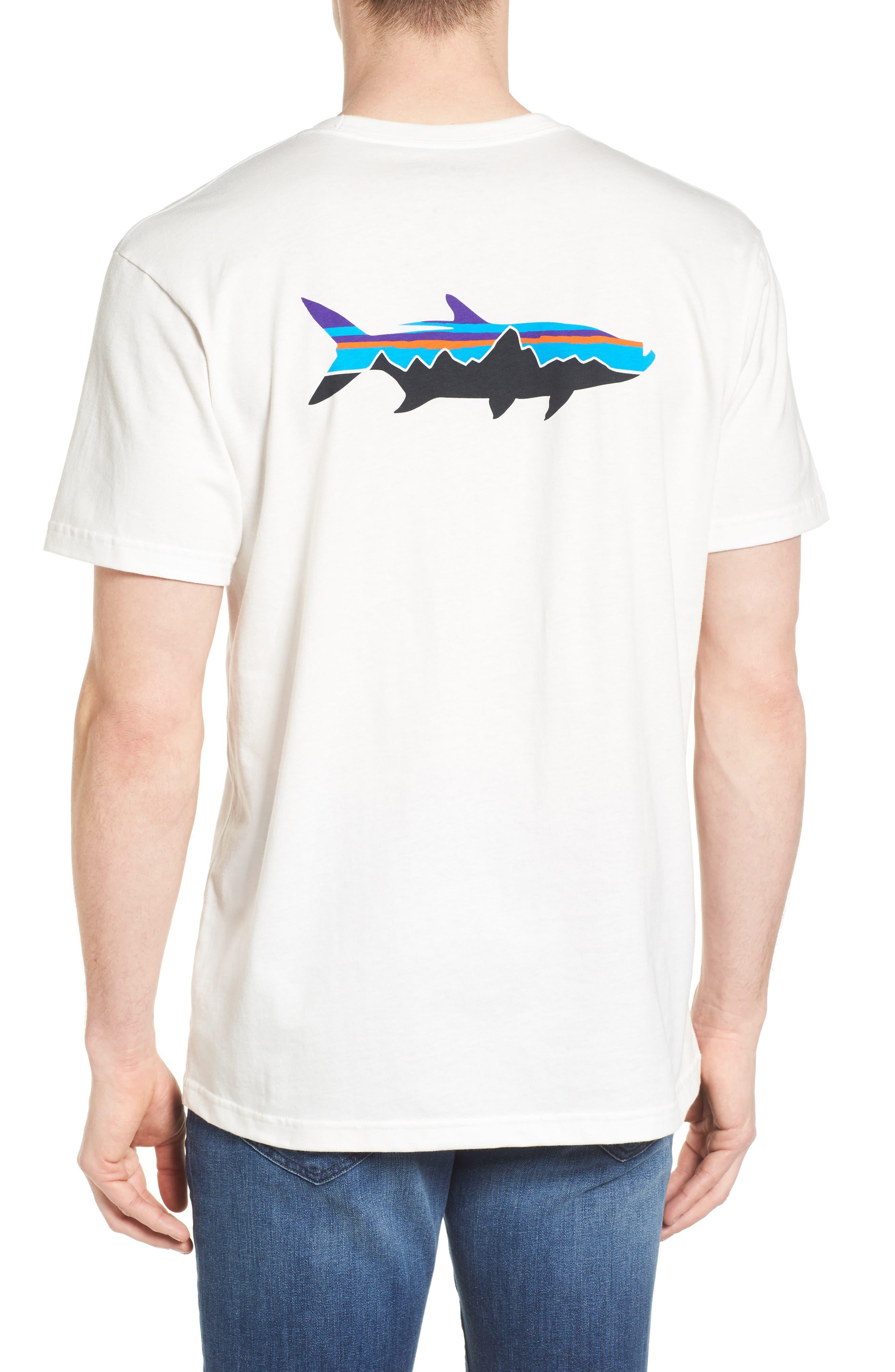Fitz Roy Tarpon Regular Fit T-Shirt,                             Alternate thumbnail 2, color,                             White