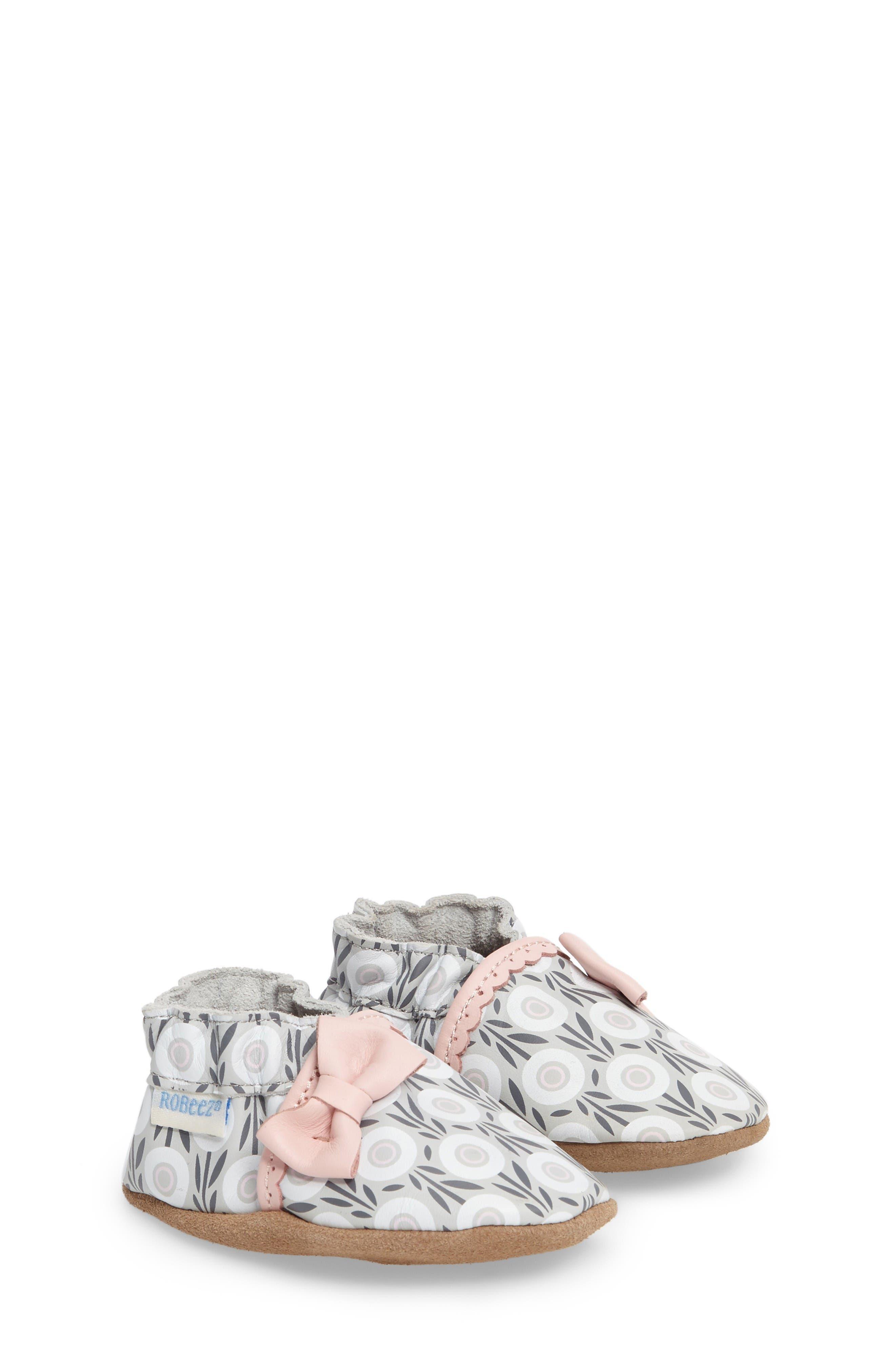 Robeez® Wildflowers Crib Shoe (Baby & Walker)