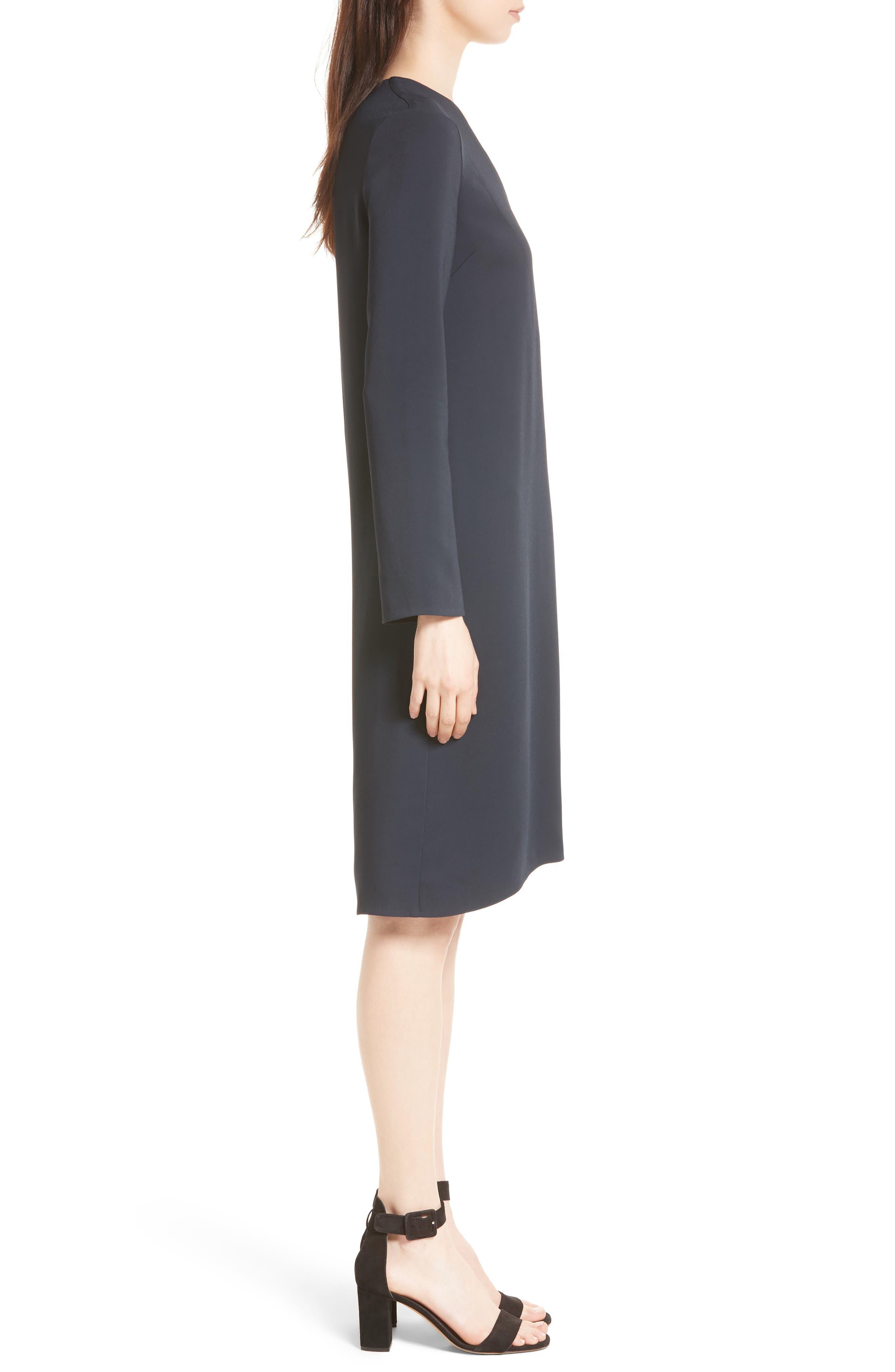 V-Neck Tunic Dress,                             Alternate thumbnail 3, color,                             Coastal