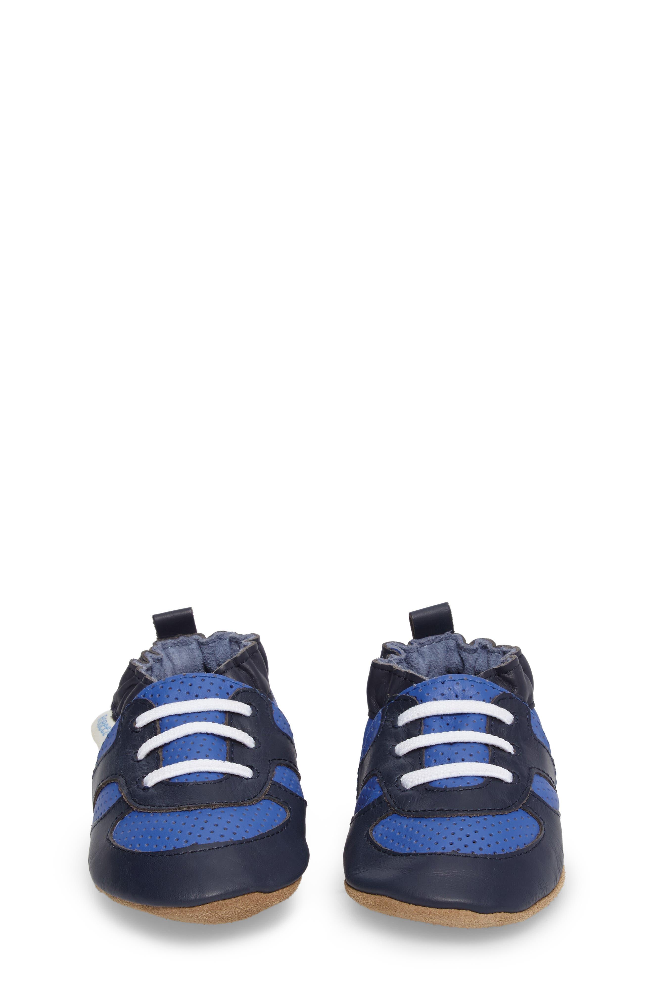Alternate Image 4  - Robeez® 'Super Sporty' Crib Shoe (Baby & Walker)
