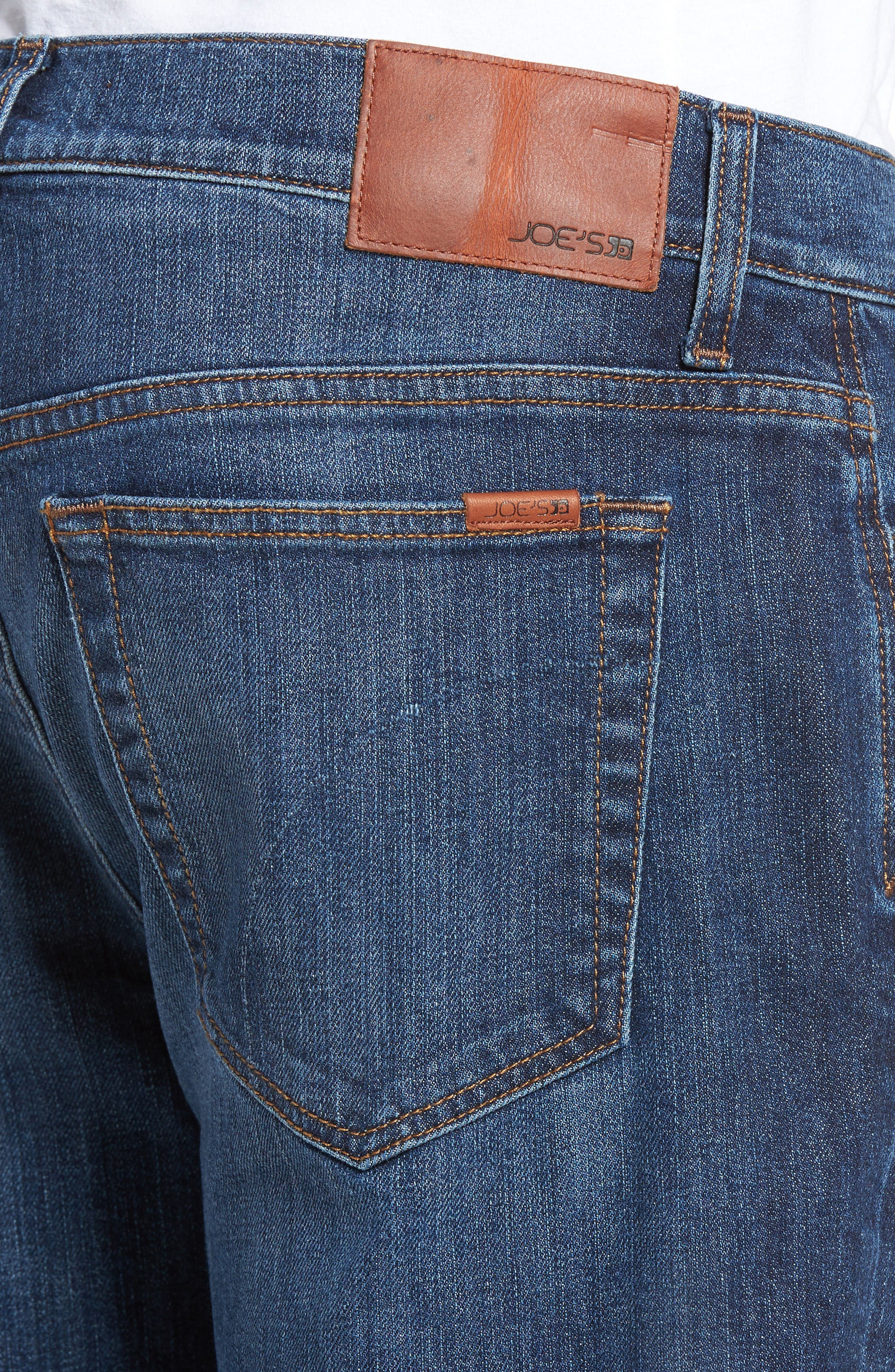 Classic Straight Fit Jeans,                             Alternate thumbnail 4, color,                             Drexler