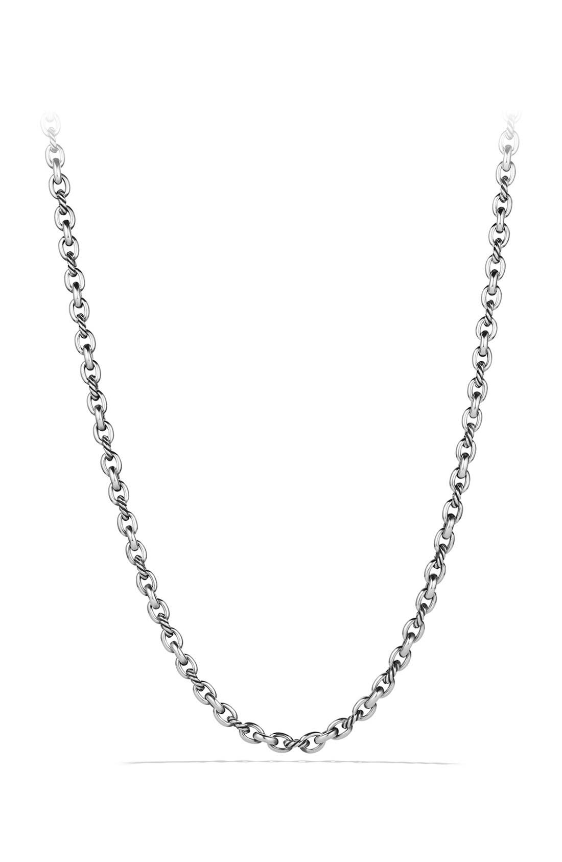 Oval Link Necklace,                         Main,                         color, Silver