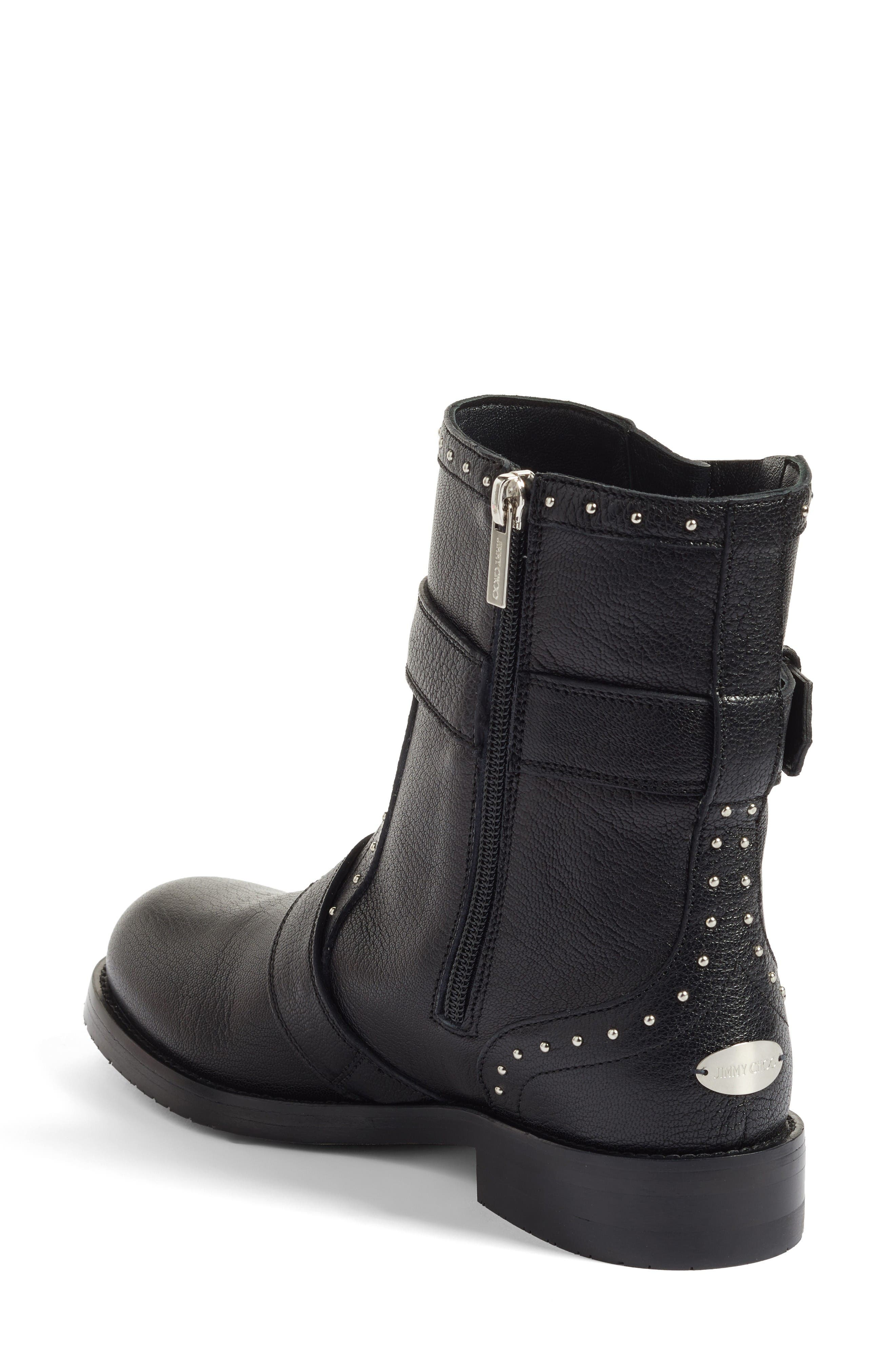 Blyss Combat Boot,                             Alternate thumbnail 2, color,                             Black Leather