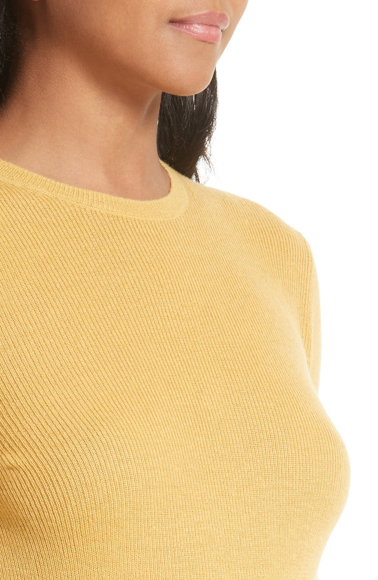 Alternate Image 4  - Vince Ribbed Cashmere Sweater