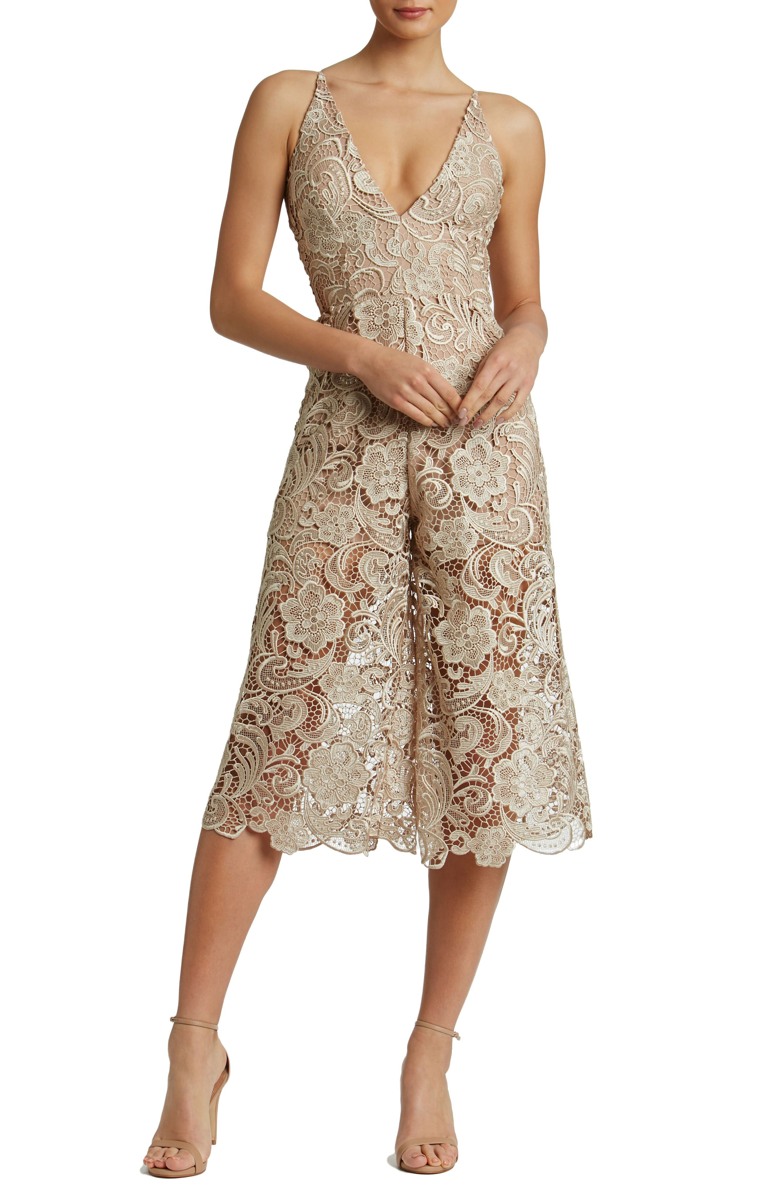 Dress the Population Marion Lace Romper