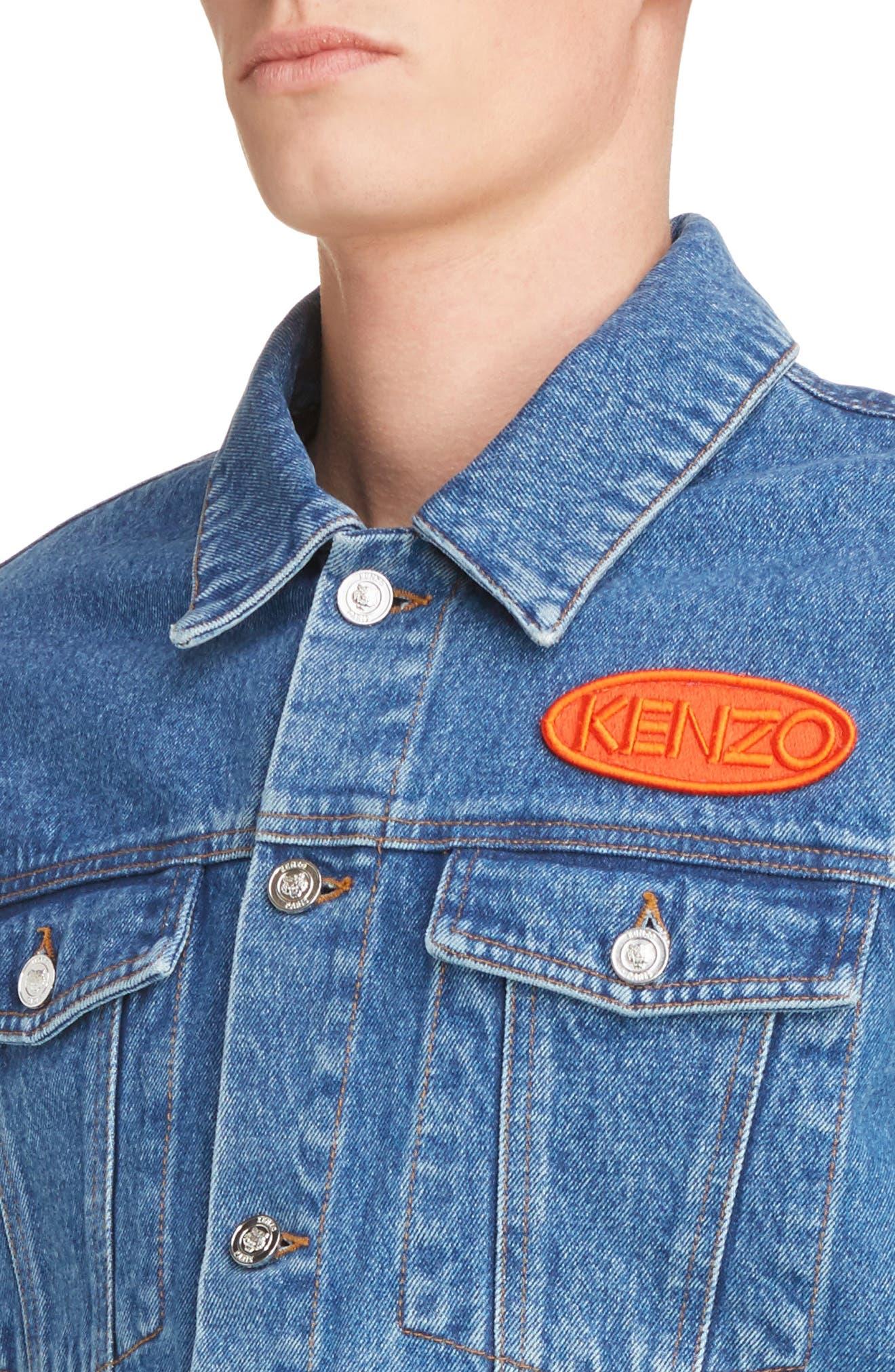 Alternate Image 4  - KENZO Denim Patch Jacket