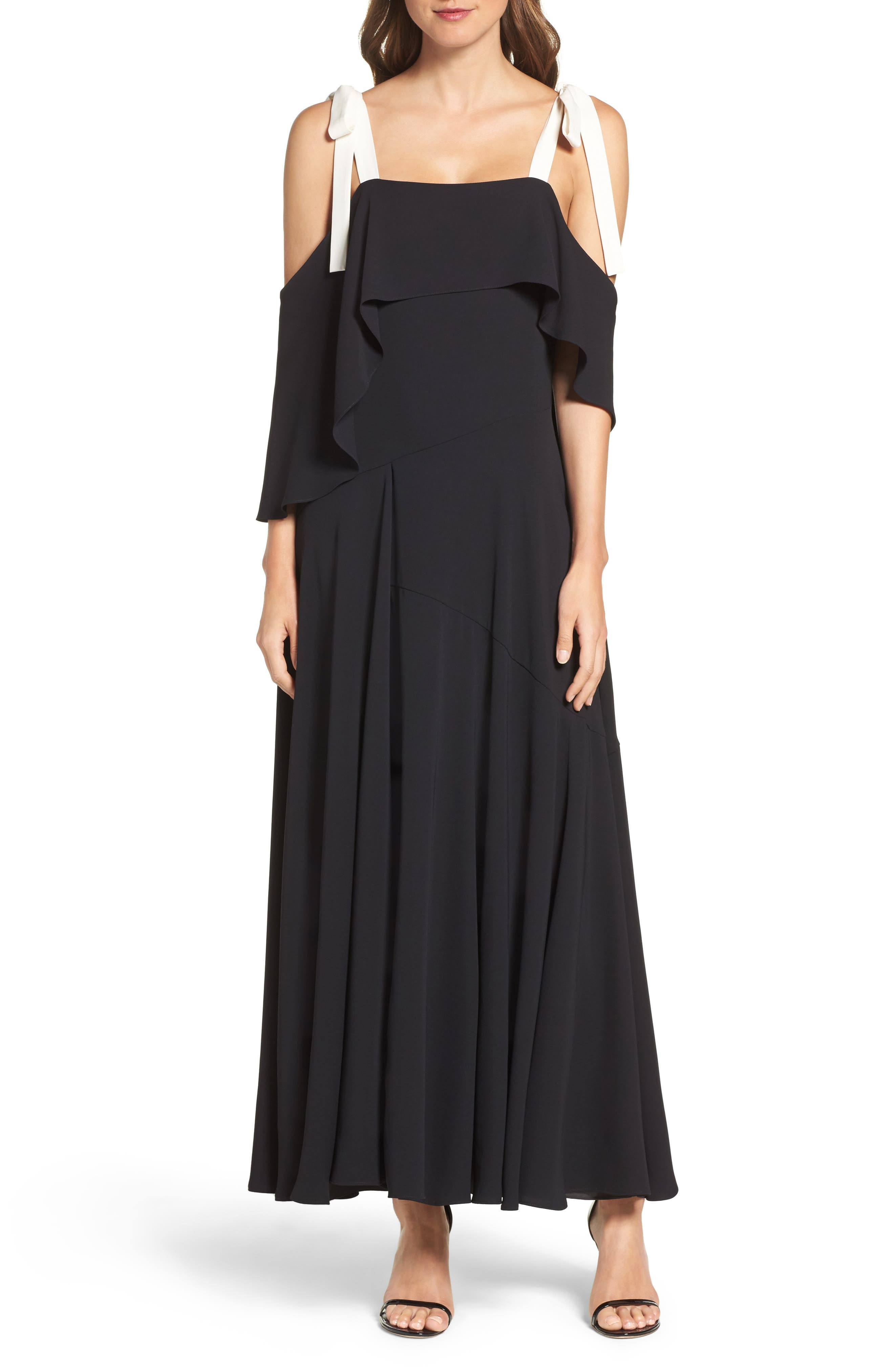 Halston Heritage Woven Swing Gown