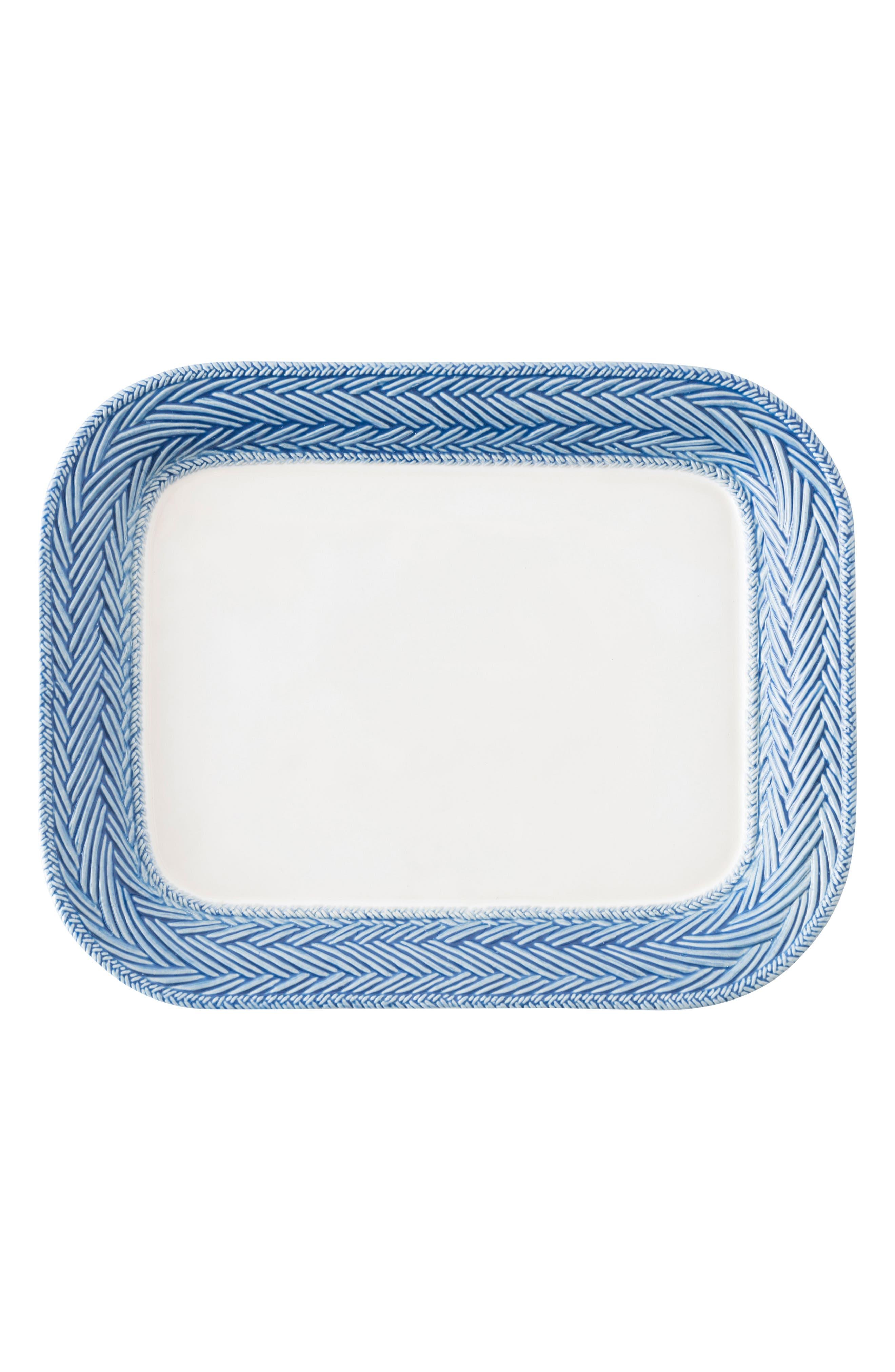 Le Panier Serving Platter,                             Main thumbnail 1, color,                             Whitewash/ Delft Blue