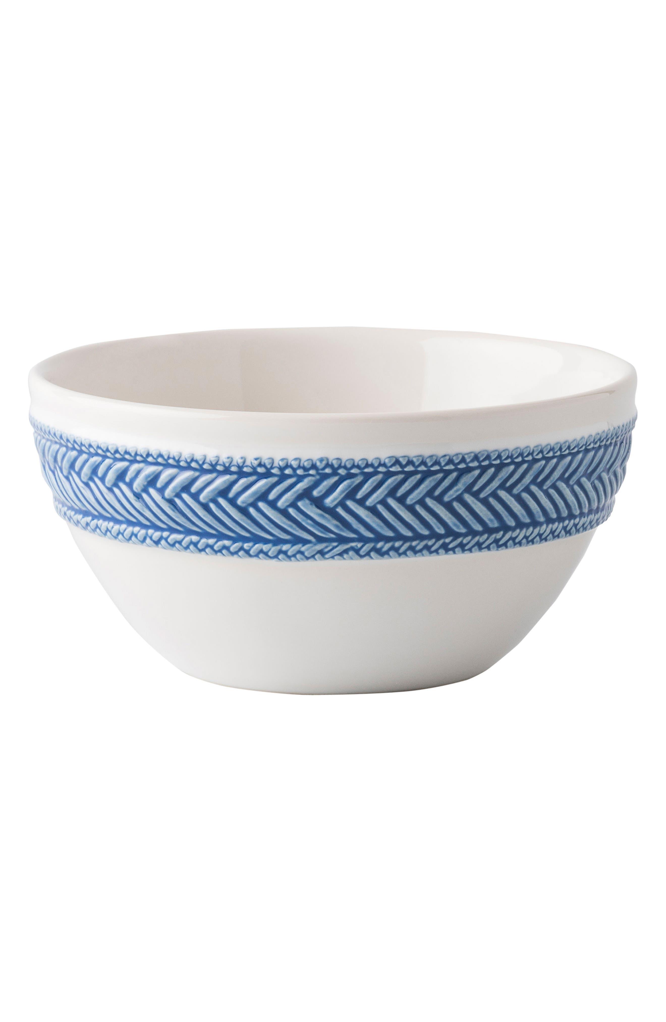 Le Panier Cereal Bowl,                             Main thumbnail 1, color,                             Whitewash/ Delft Blue
