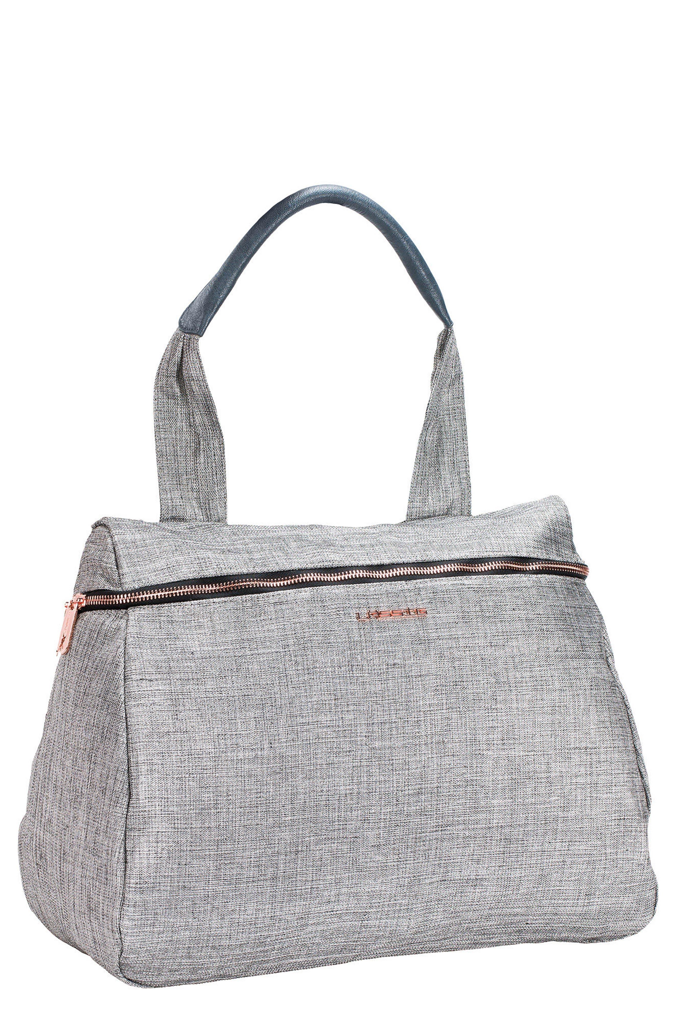 Glam Rosie Diaper Bag,                             Main thumbnail 1, color,                             Anthracite Glitter