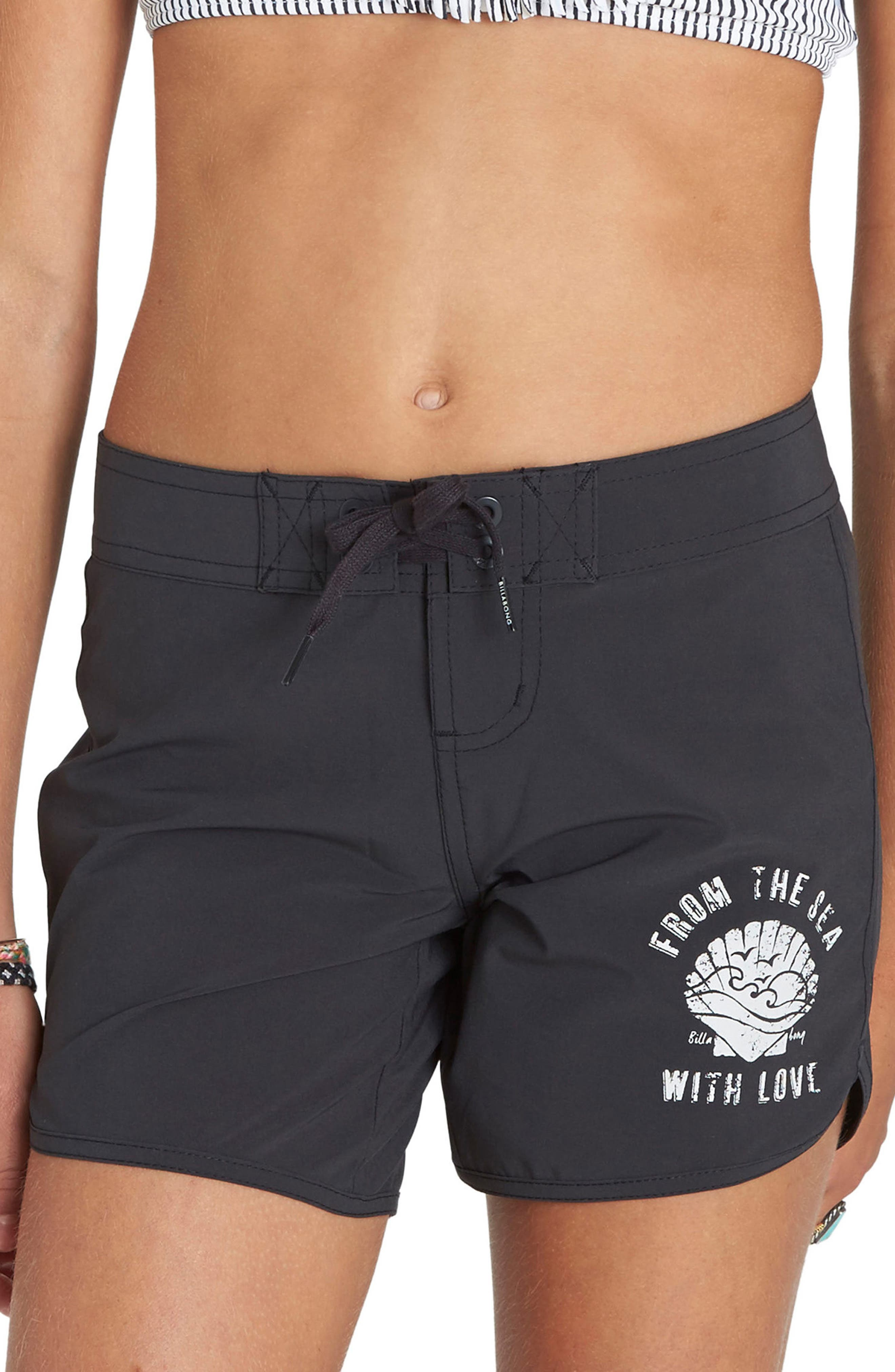 Sol Searcher 5 Board Shorts,                         Main,                         color, Black Sands