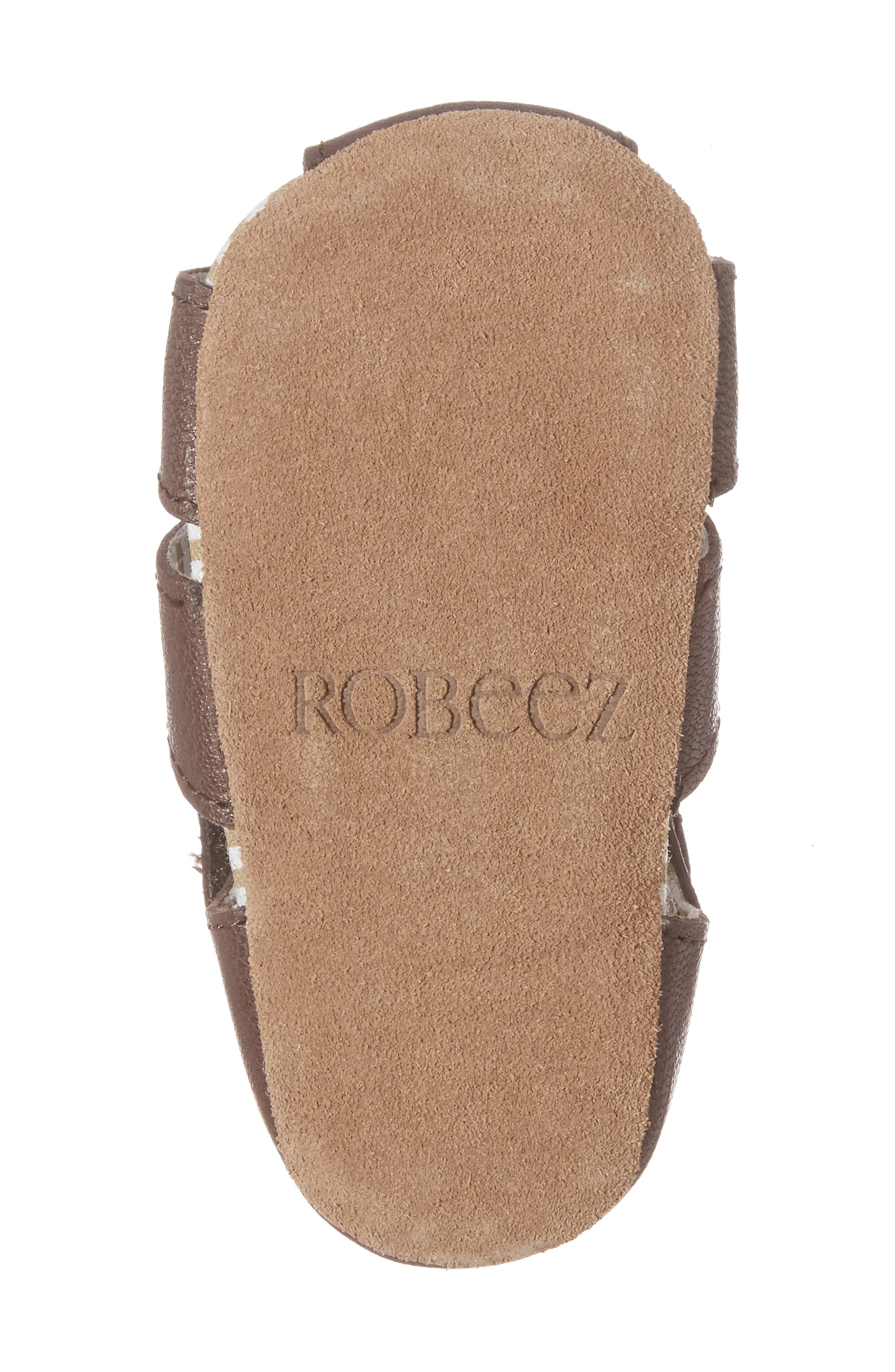 Alternate Image 6  - Robeez® Samuel Fisherman Sandal (Baby & Walker)