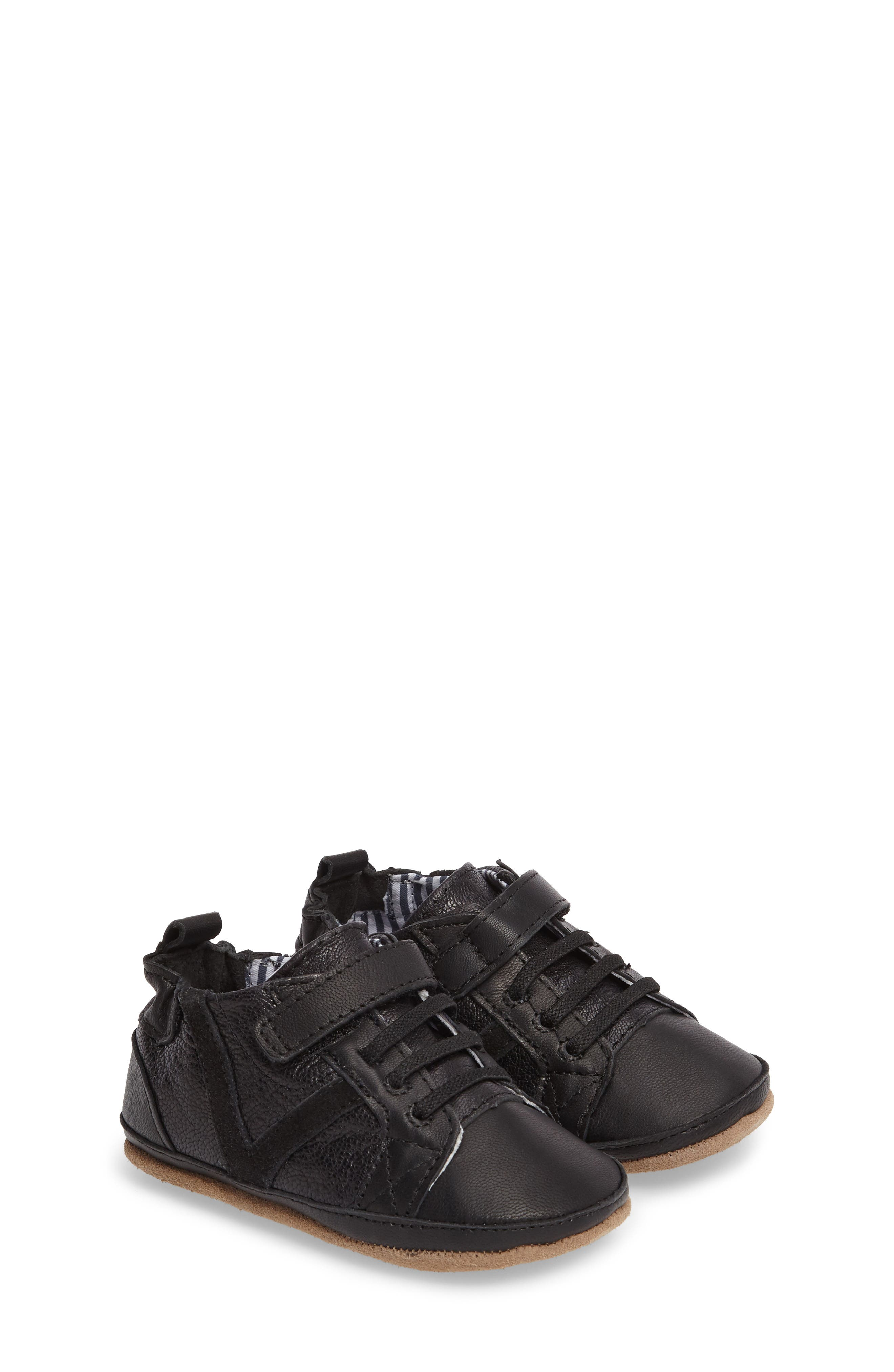 Alternate Image 1 Selected - Robeez® Asher Crib Shoe (Baby & Walker)