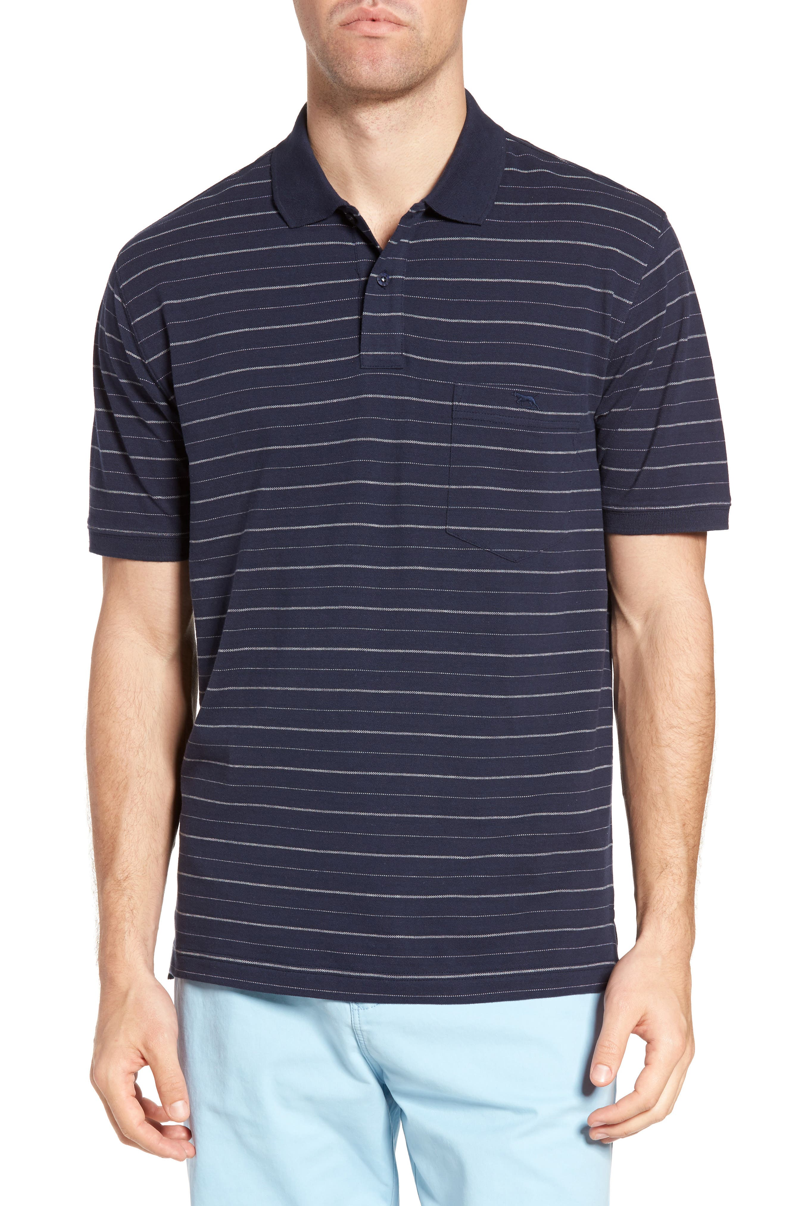 RODD & GUNN Charlgrave Original Fit Stripe Cotton Polo