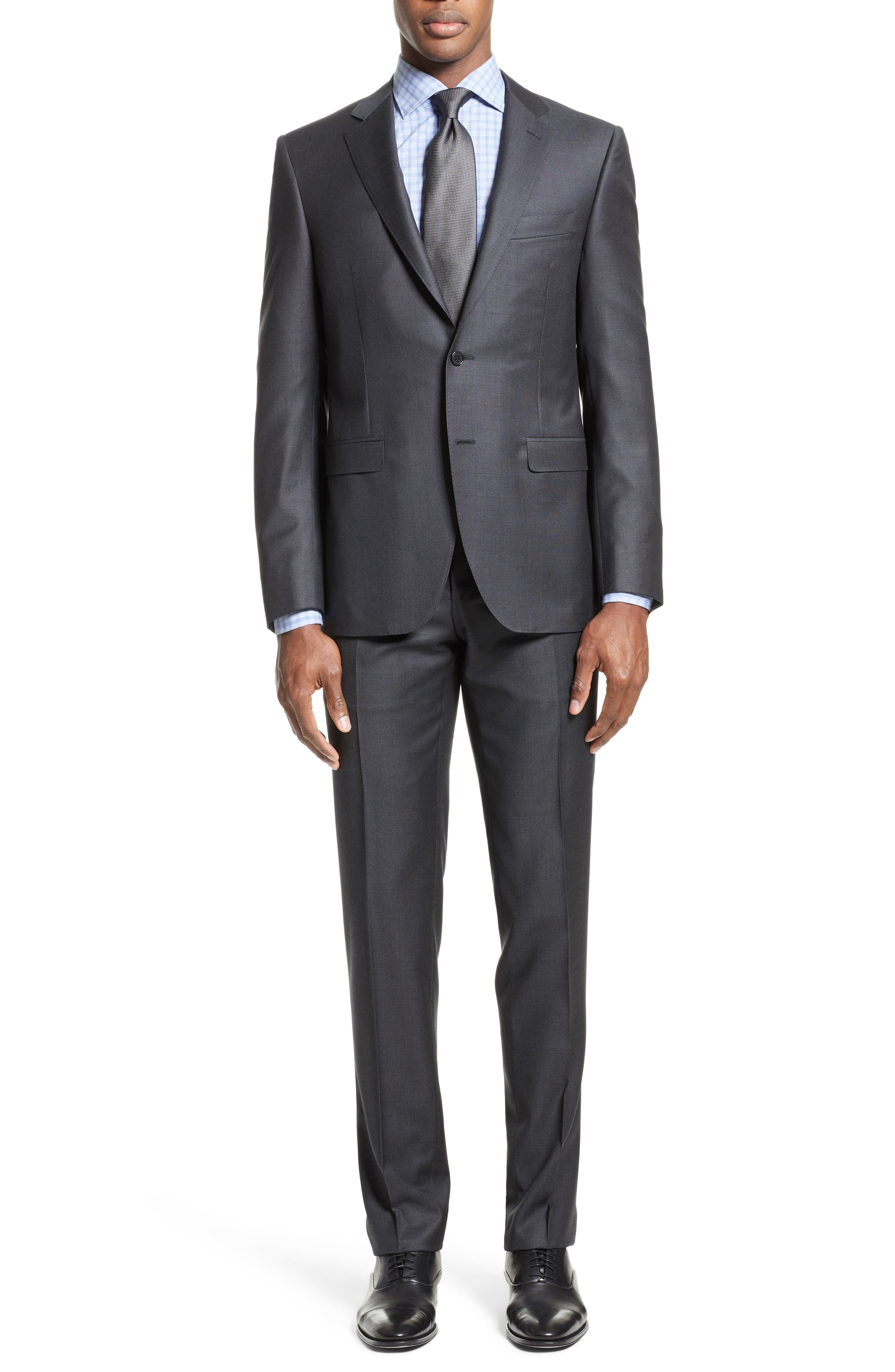 Main Image - Canali Classic Fit Solid Wool Suit