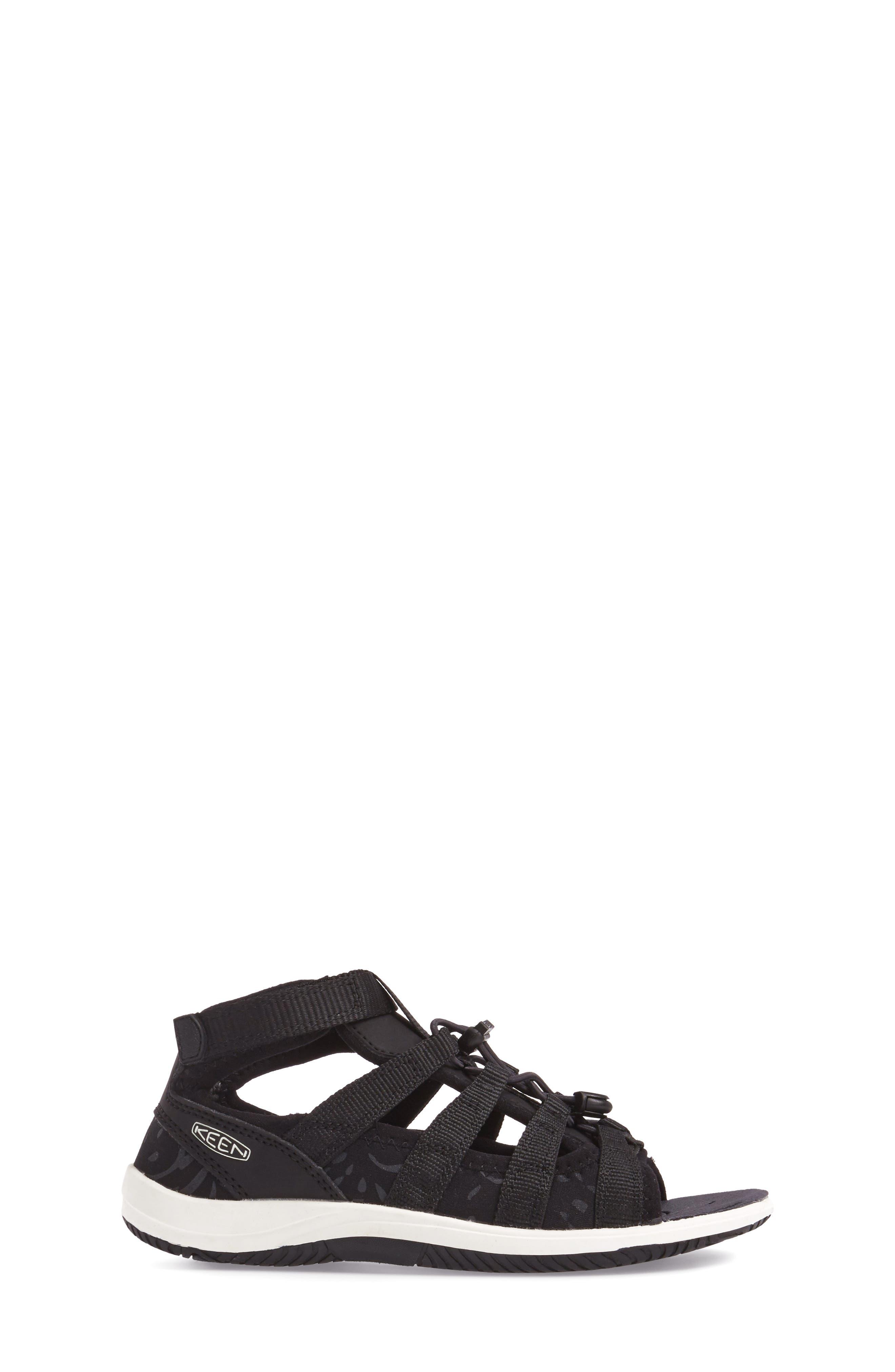 Hadley Adventure Water Friendly Sandal,                             Alternate thumbnail 3, color,                             Black/ White