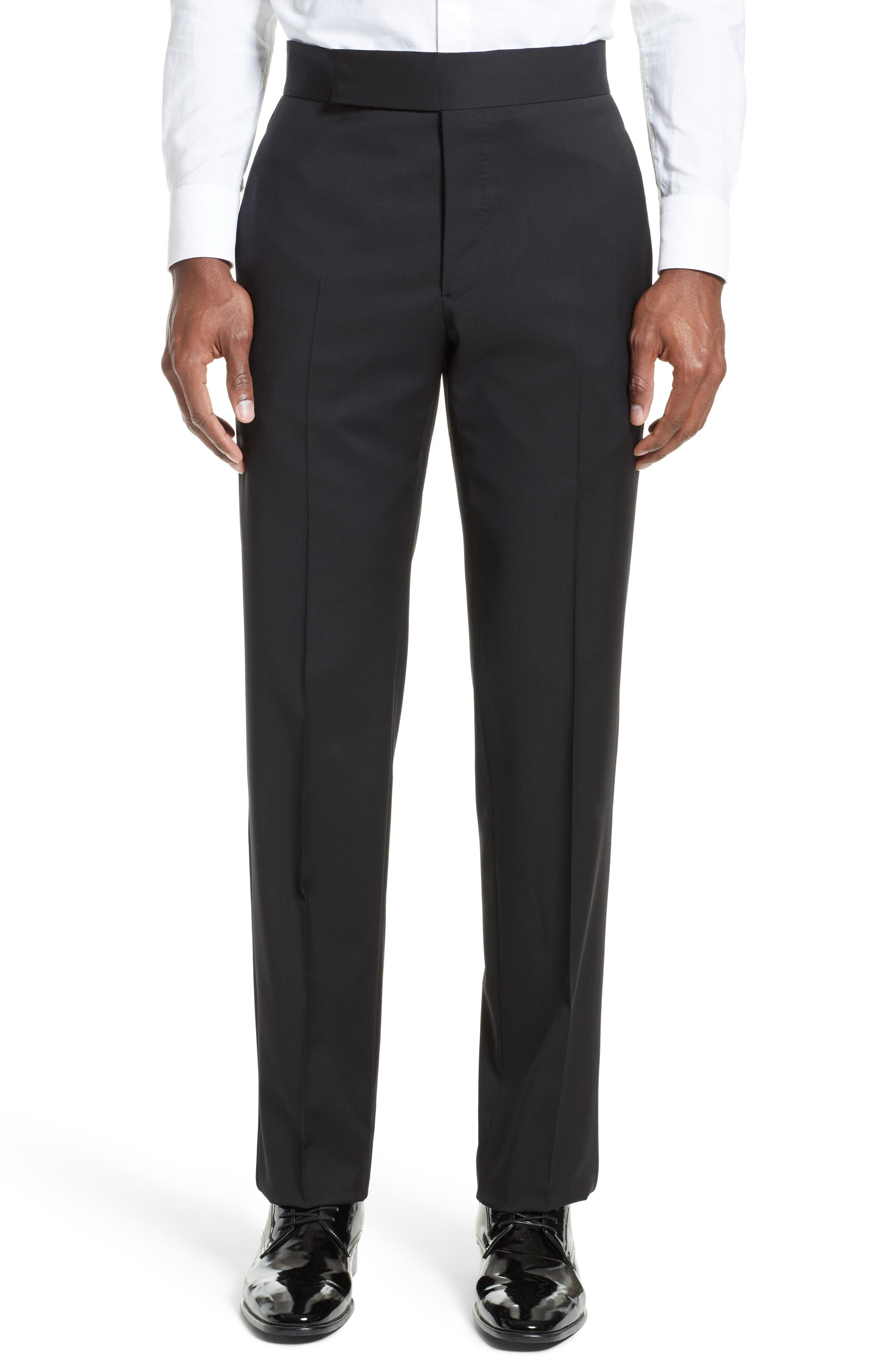 Alternate Image 6  - Armani Collezioni Trim Fit Wool Tuxedo